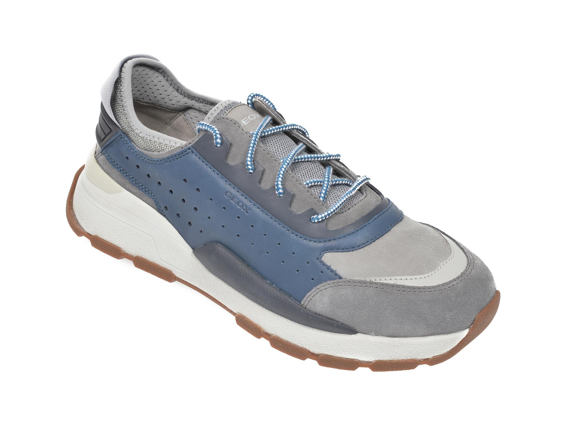 Pantofi sport GEOX albastri, U029AA, din piele naturala imagine