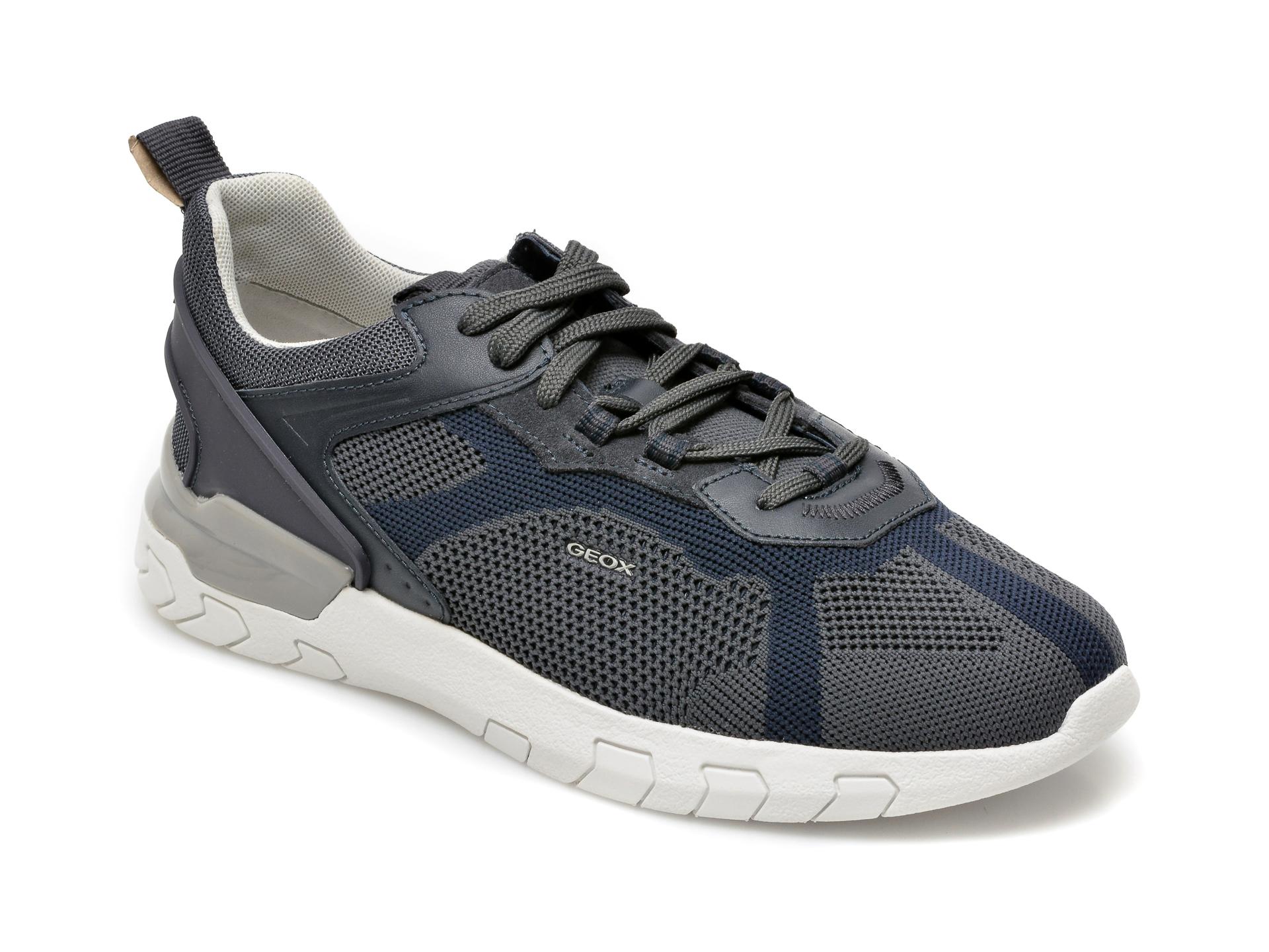 Pantofi sport GEOX albastri, U158ZE, din material textil imagine