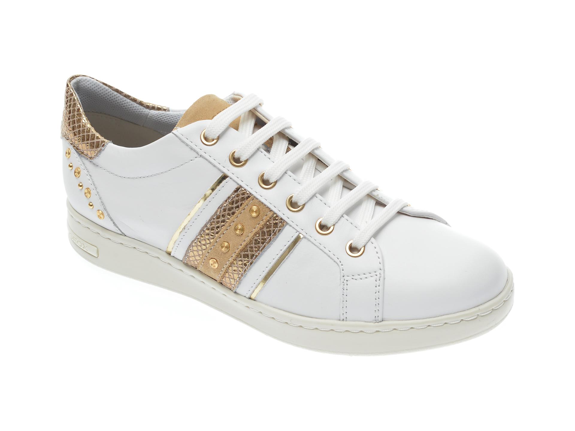 Pantofi sport GEOX albi, D151BA, din piele naturala