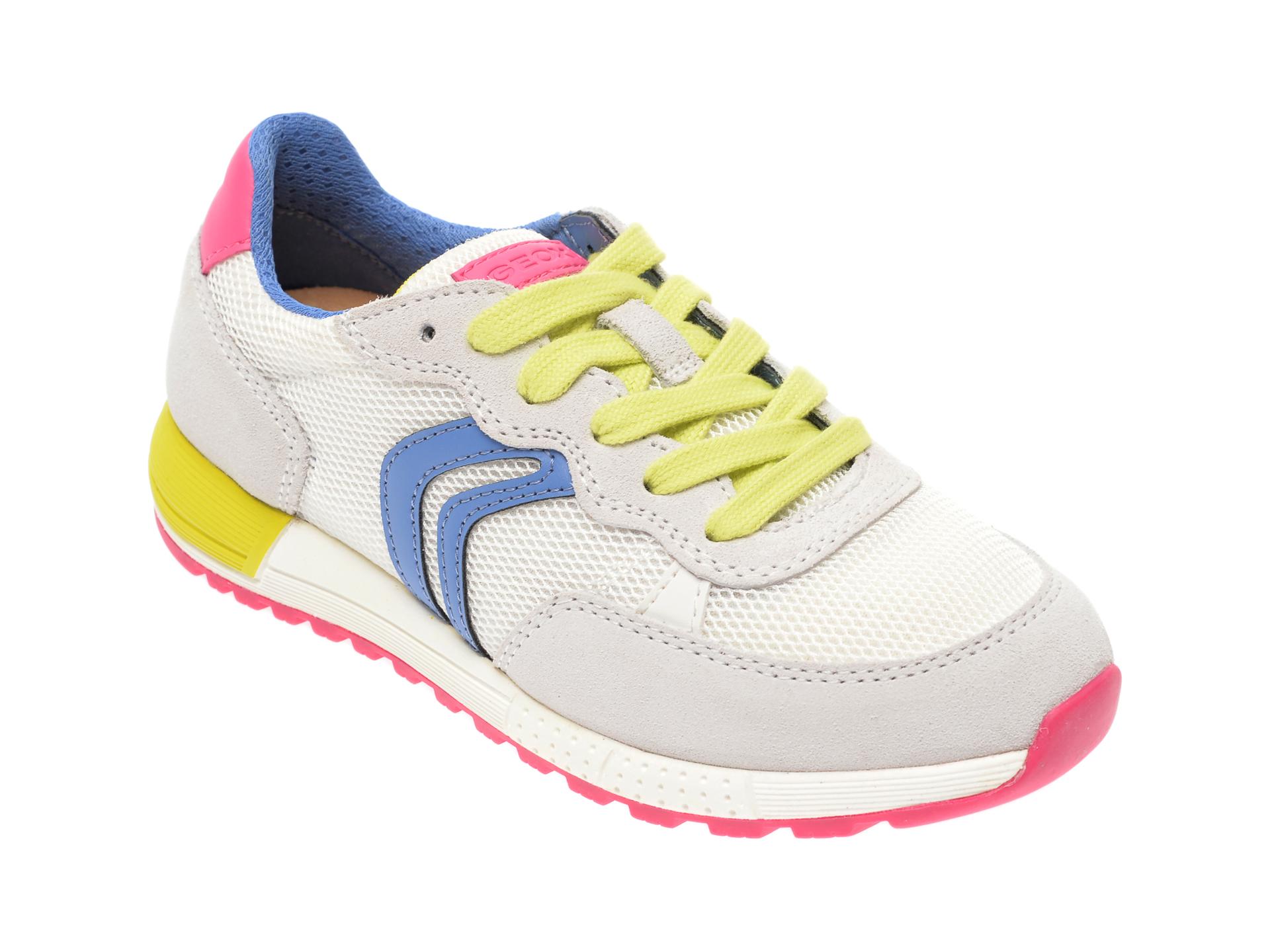 Pantofi Sport Geox Albi, J02aqb, Din Material Textil Si Piele Intoarsa
