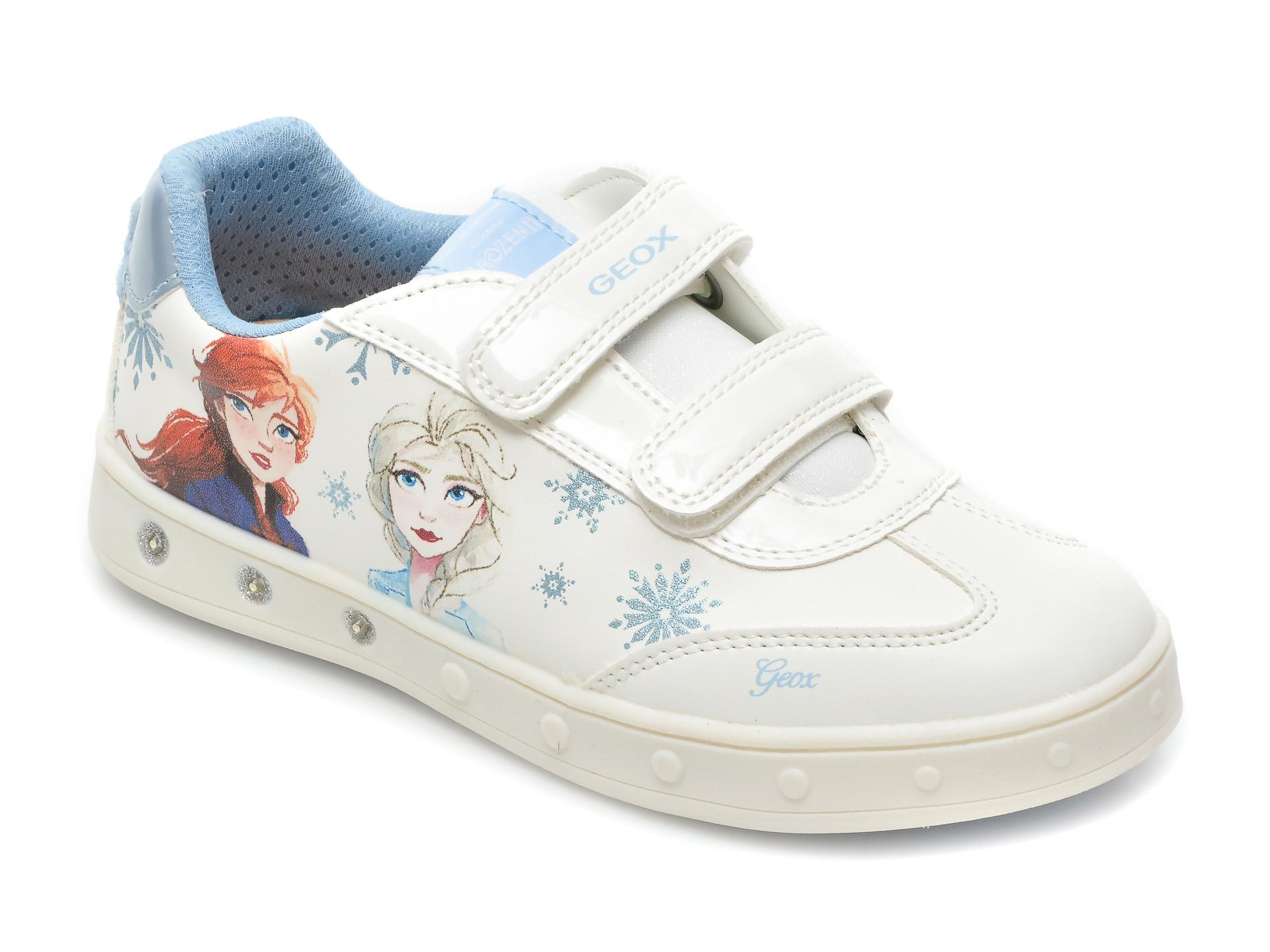 Pantofi sport GEOX albi, J158WE, din piele ecologica imagine otter.ro