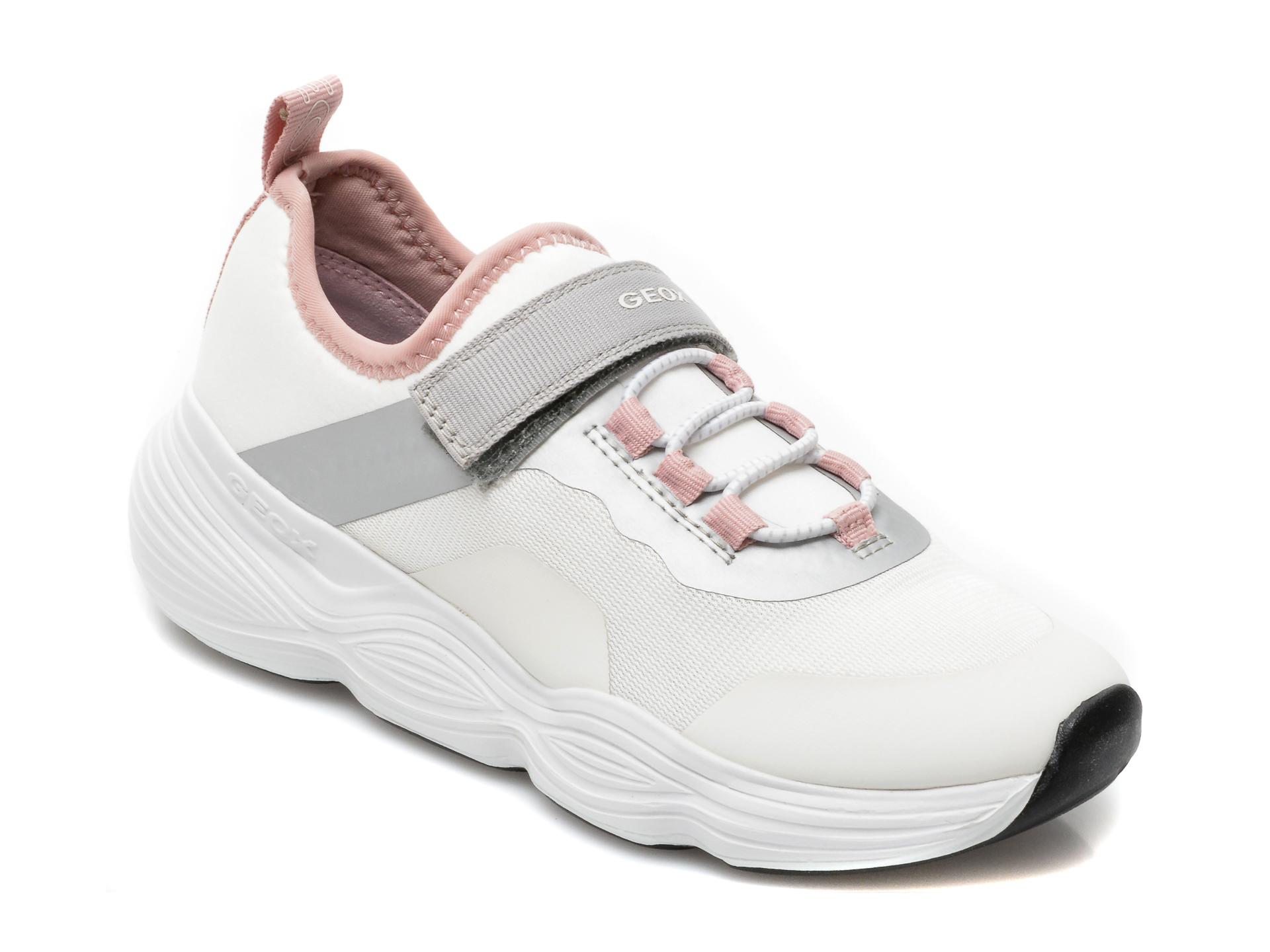 Pantofi sport GEOX albi, J15CNA, din material textil