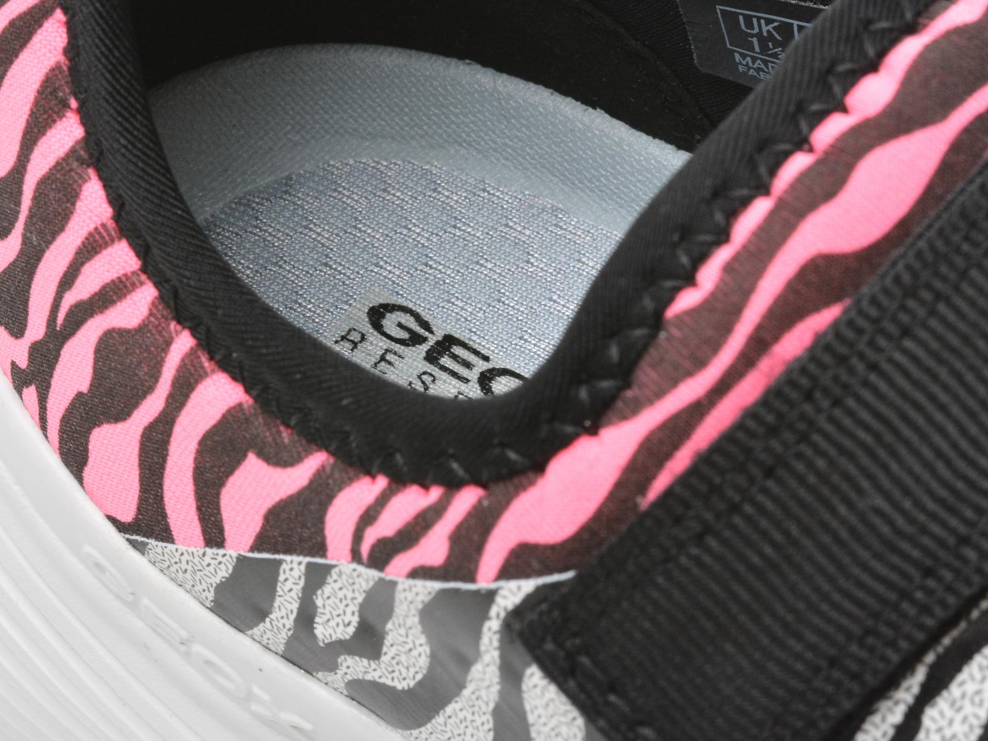 Pantofi sport GEOX albi, J15CNA, din piele ecologica - 3