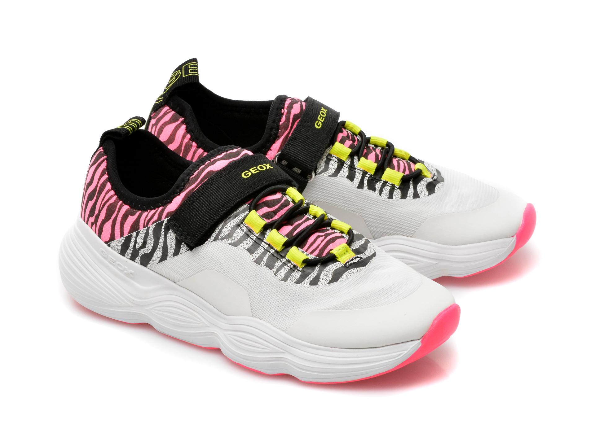 Pantofi sport GEOX albi, J15CNA, din piele ecologica - 4