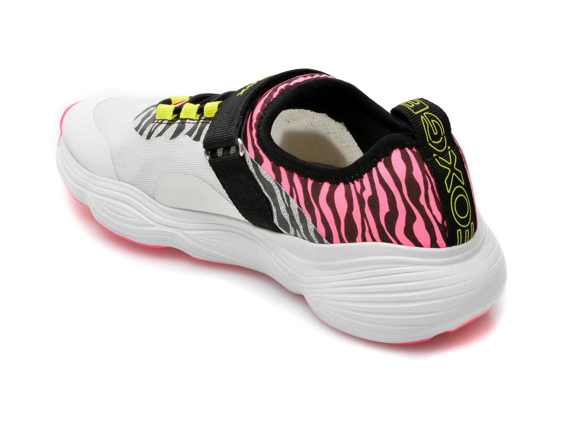 Pantofi sport GEOX albi, J15CNA, din piele ecologica - 5