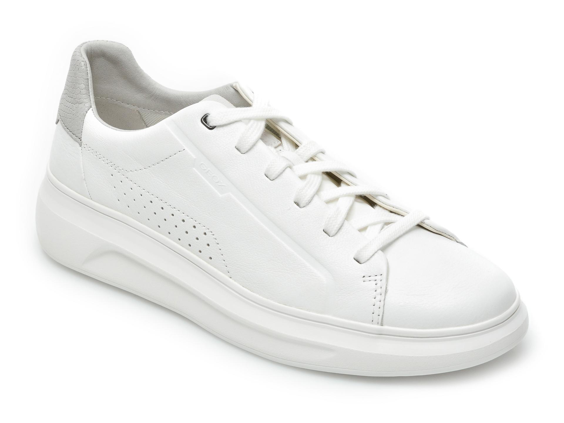 Pantofi sport GEOX albi, U15ATB, din piele naturala imagine