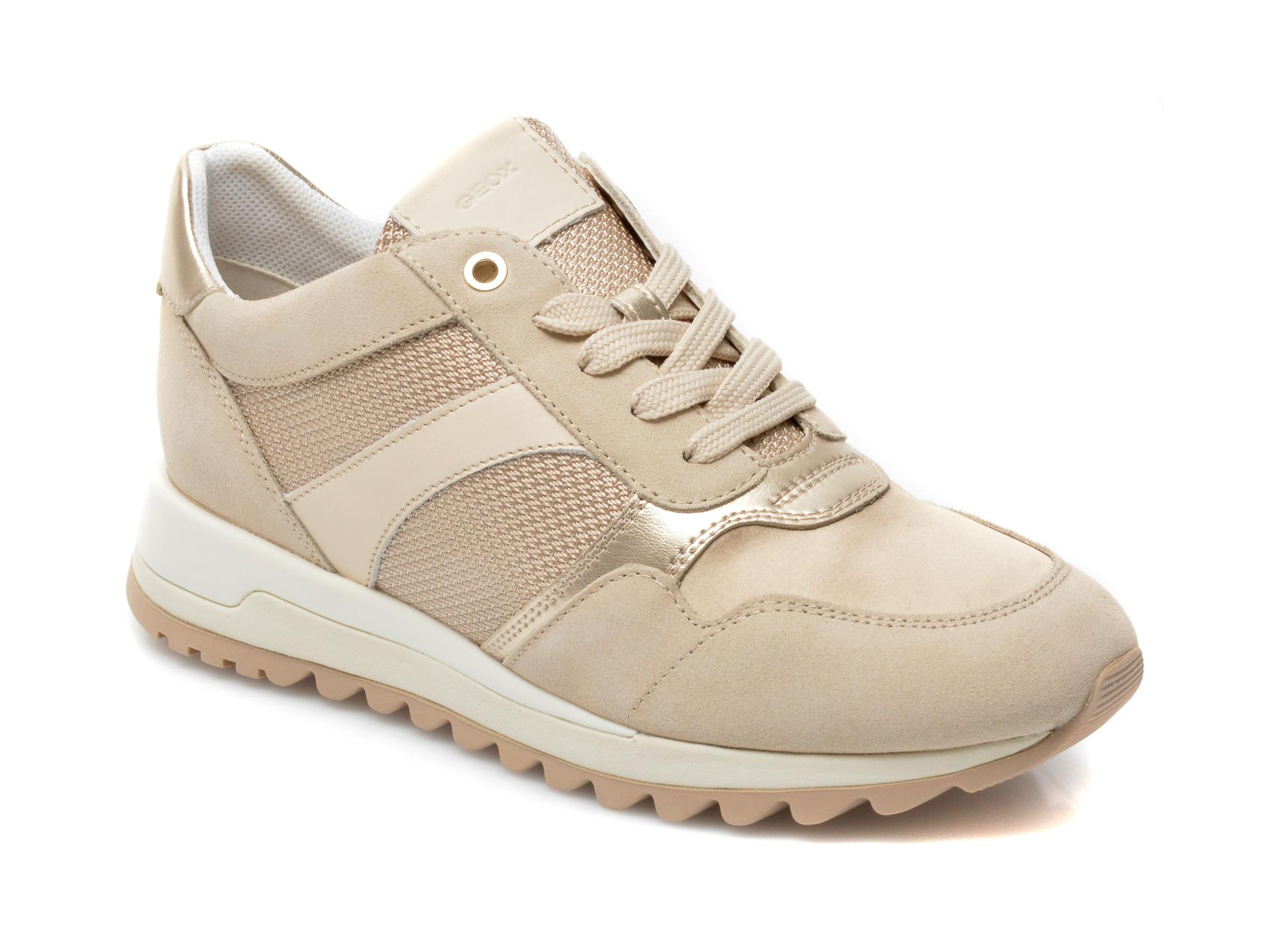 Pantofi sport GEOX bej, D15AQA, din material textil si piele naturala imagine otter.ro 2021