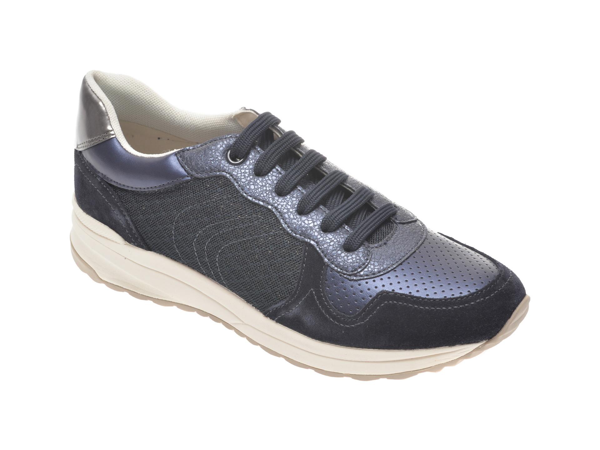 Pantofi sport GEOX bleumarin, D022SA, din material textil si piele naturala imagine
