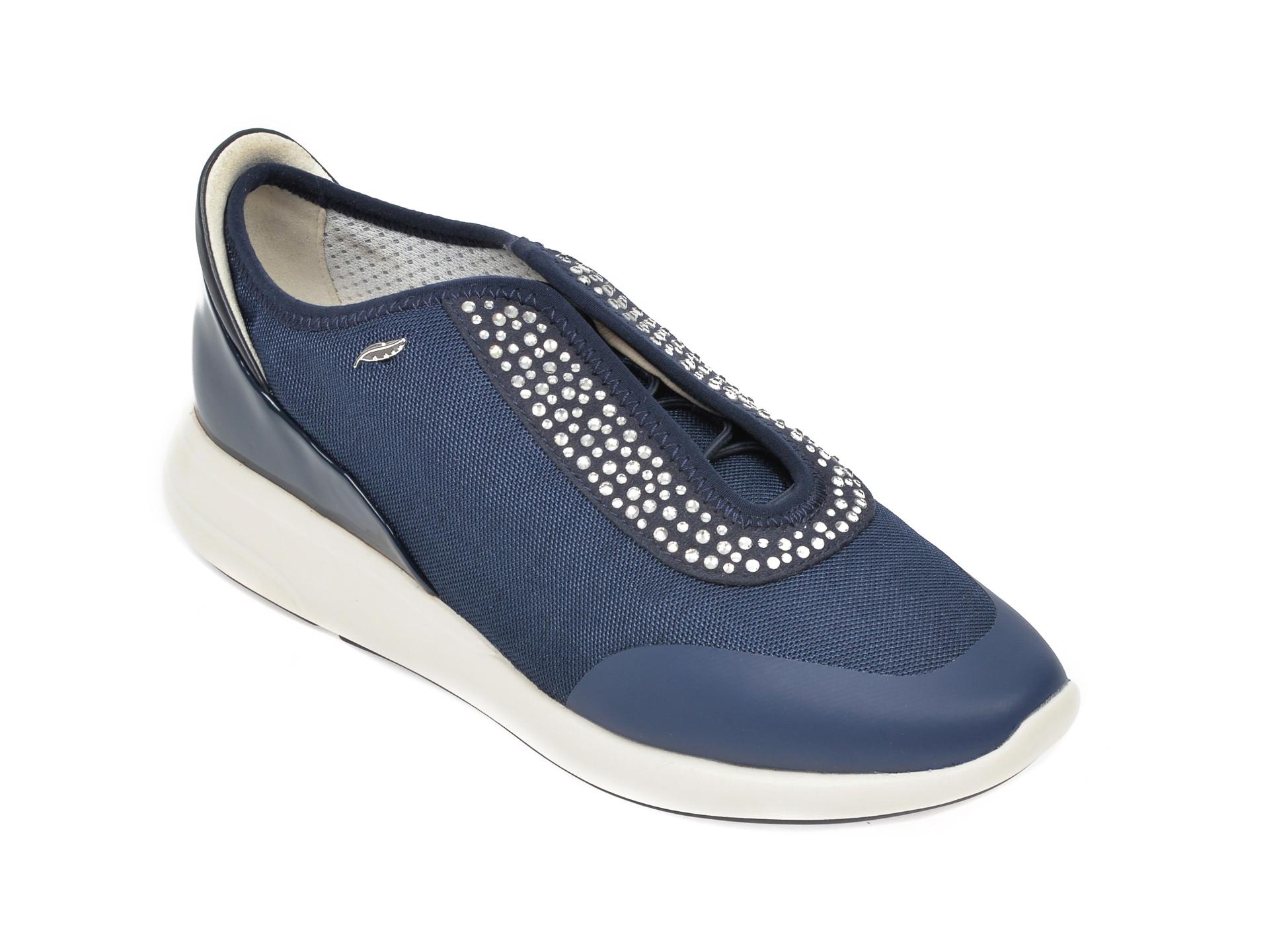Pantofi sport GEOX bleumarin, D621CE, din material textil