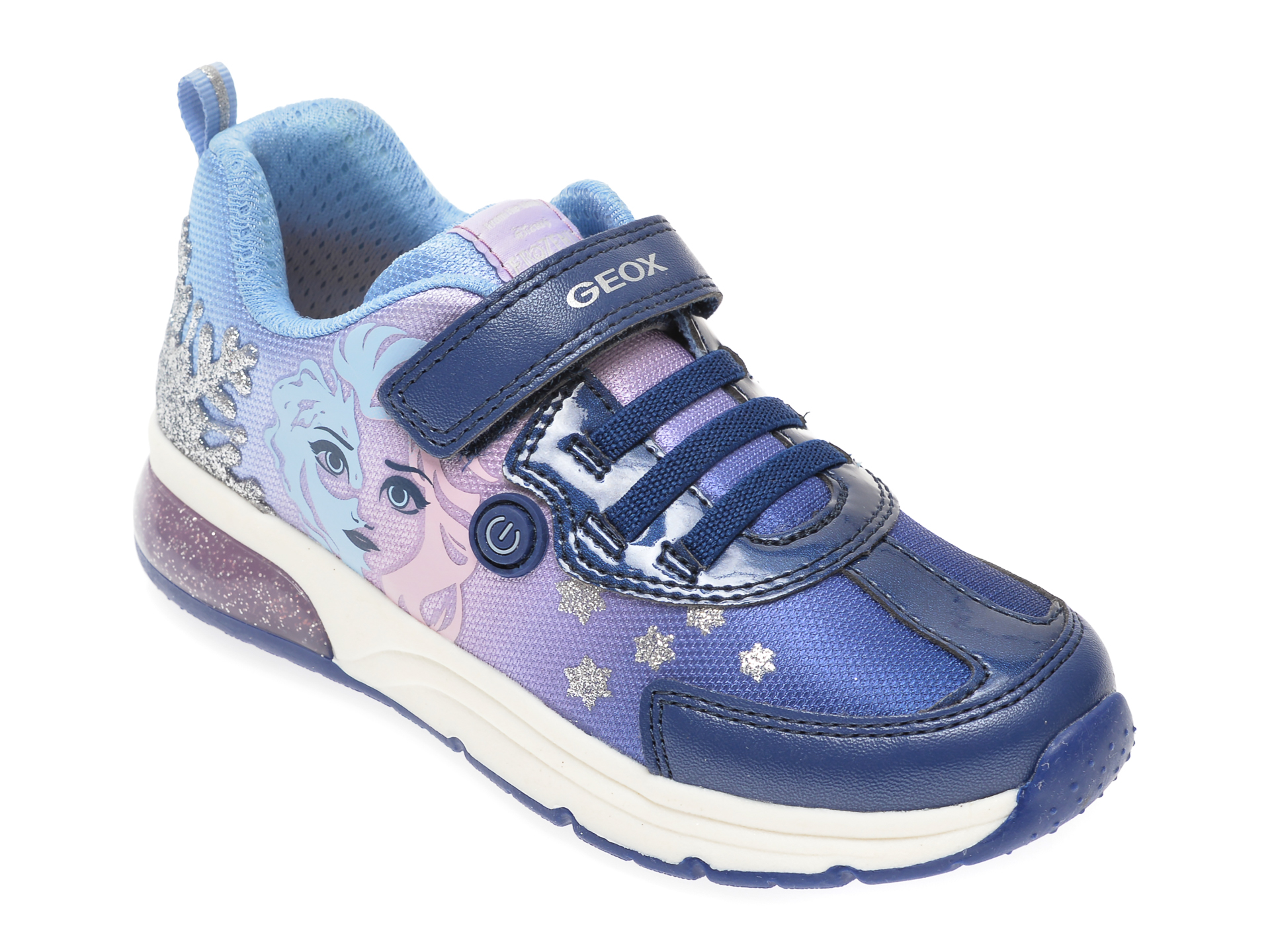 Pantofi sport GEOX bleumarin, J028VD, din material textil si piele ecologica New