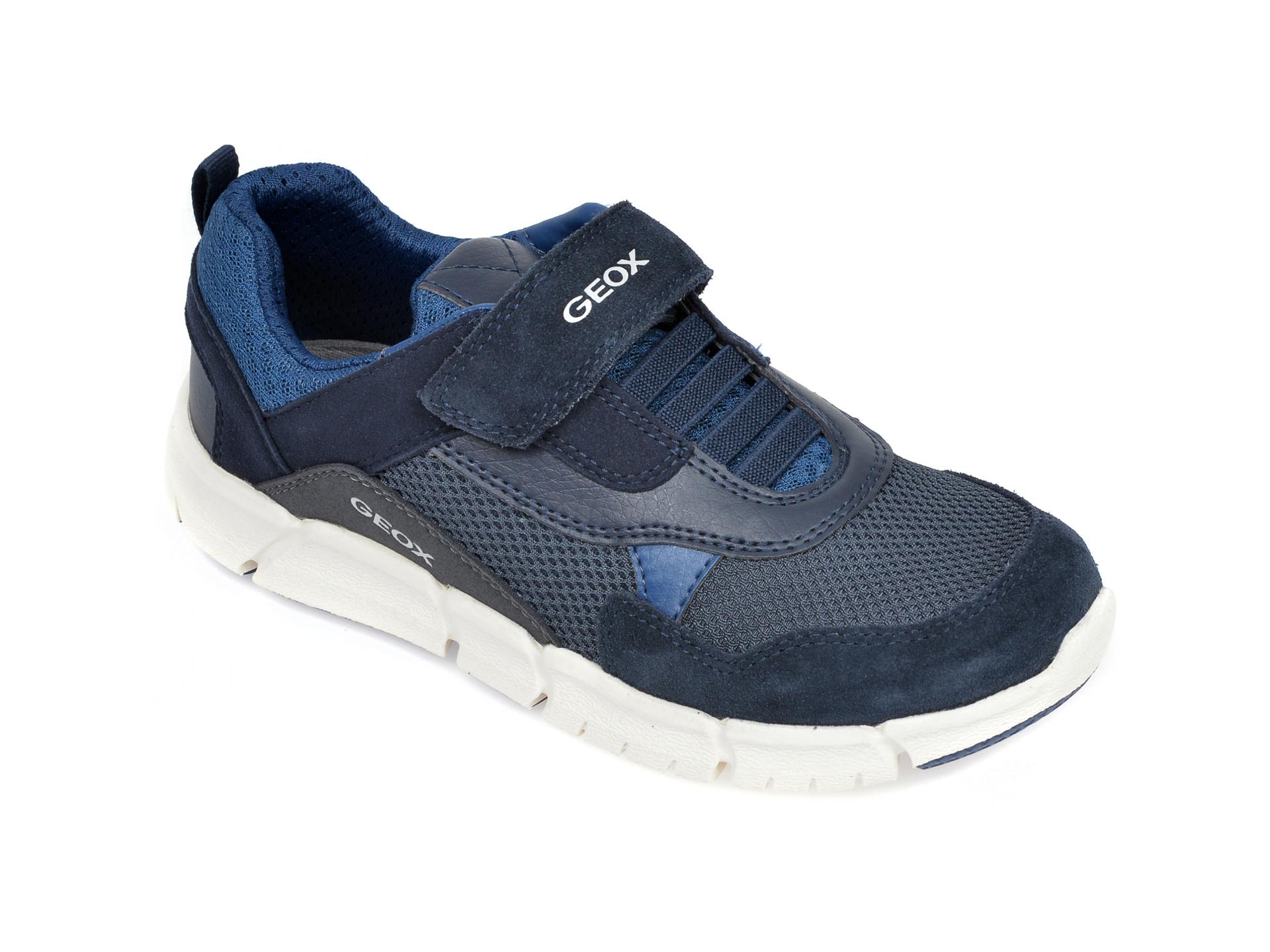Pantofi sport GEOX bleumarin, J029BD, din material textil si piele naturala New