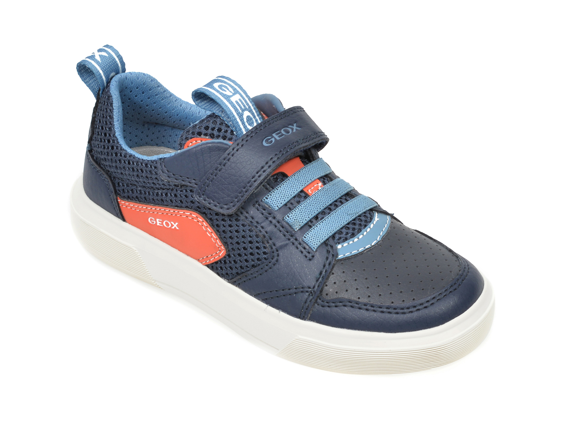 Pantofi sport GEOX bleumarin, J02AWC, din material textil si piele ecologica New