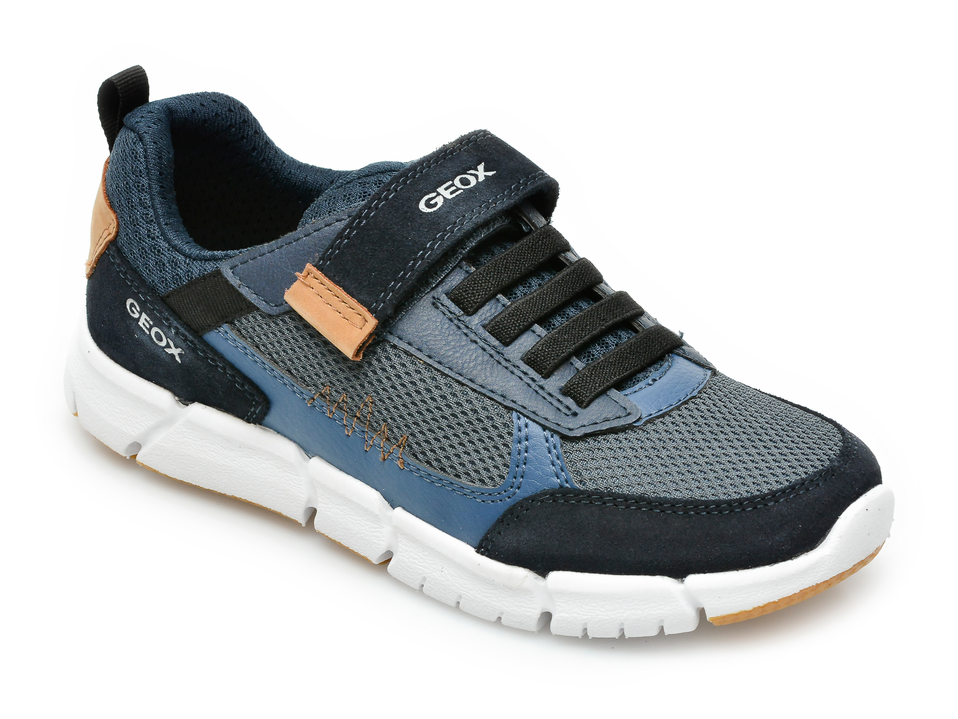 Pantofi sport GEOX bleumarin, J159BB, din material textil si piele naturala