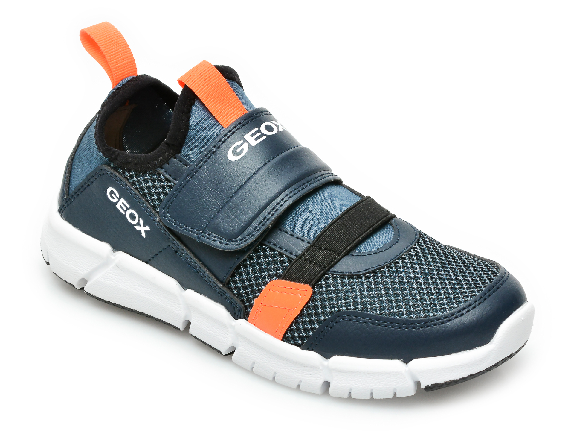 Pantofi sport GEOX bleumarin, J159BC, din material textil si piele ecologica