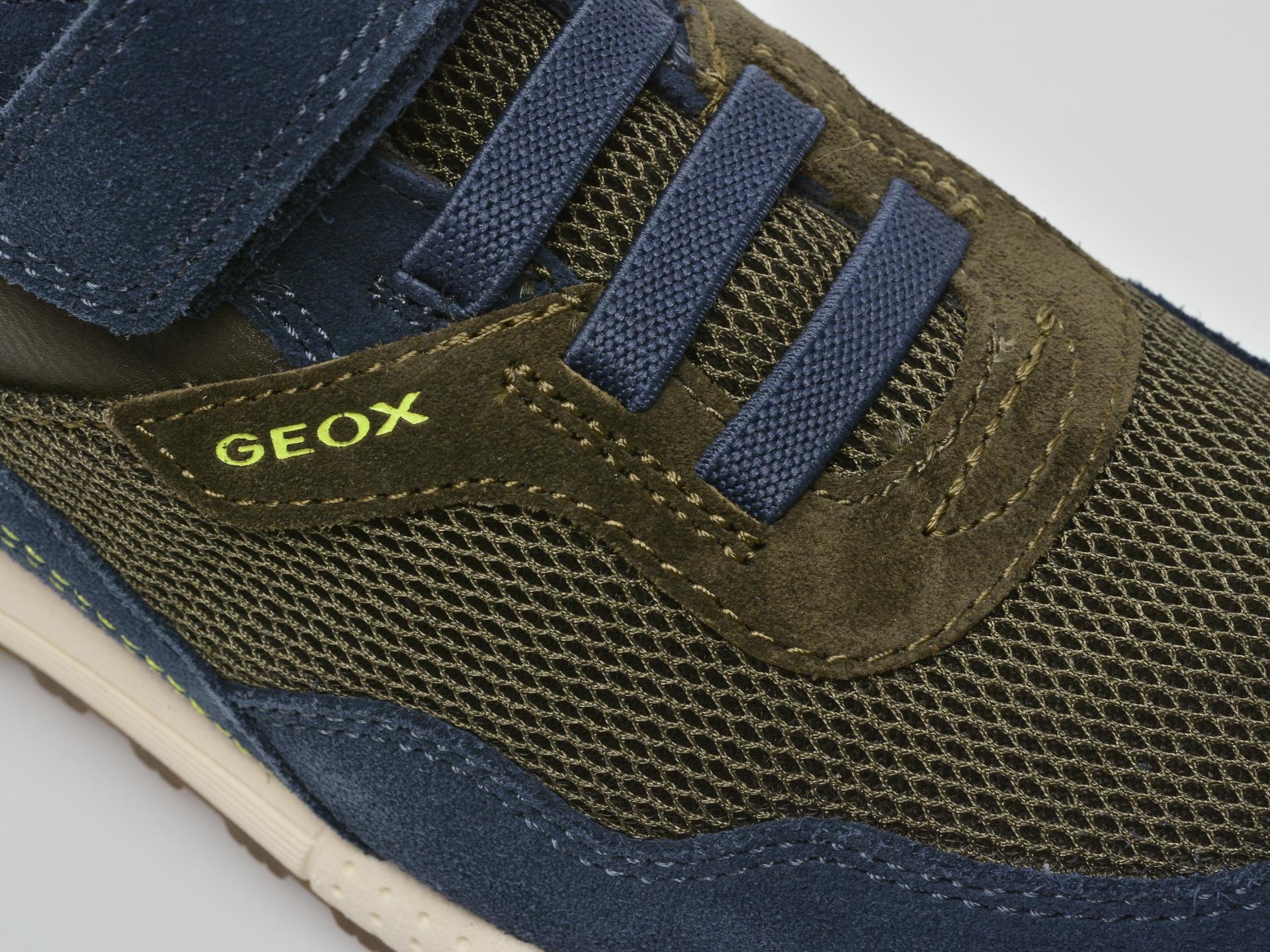 Pantofi sport GEOX bleumarin, J159EB, din material textil si piele intoarsa - 2