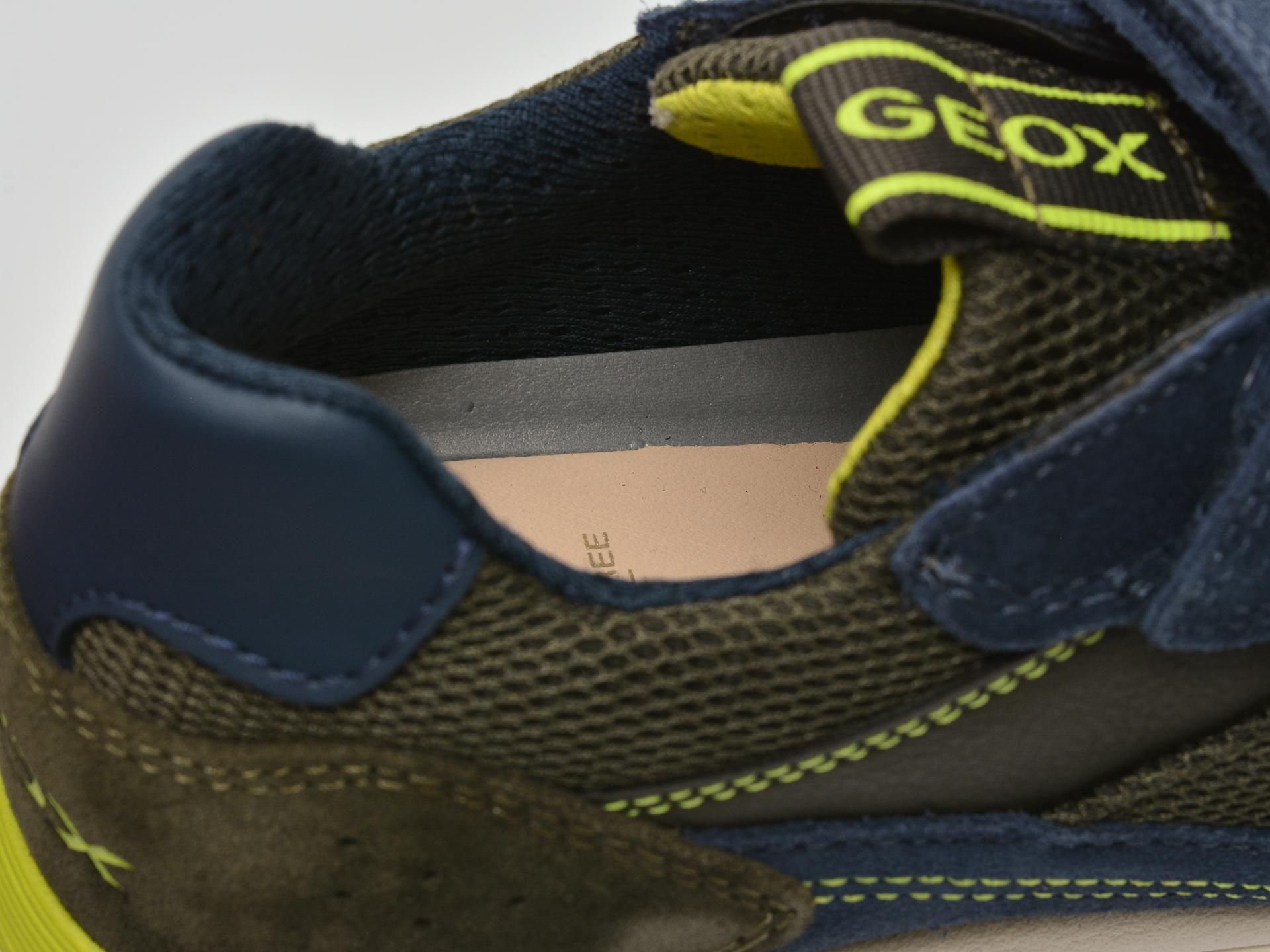 Pantofi sport GEOX bleumarin, J159EB, din material textil si piele intoarsa - 3