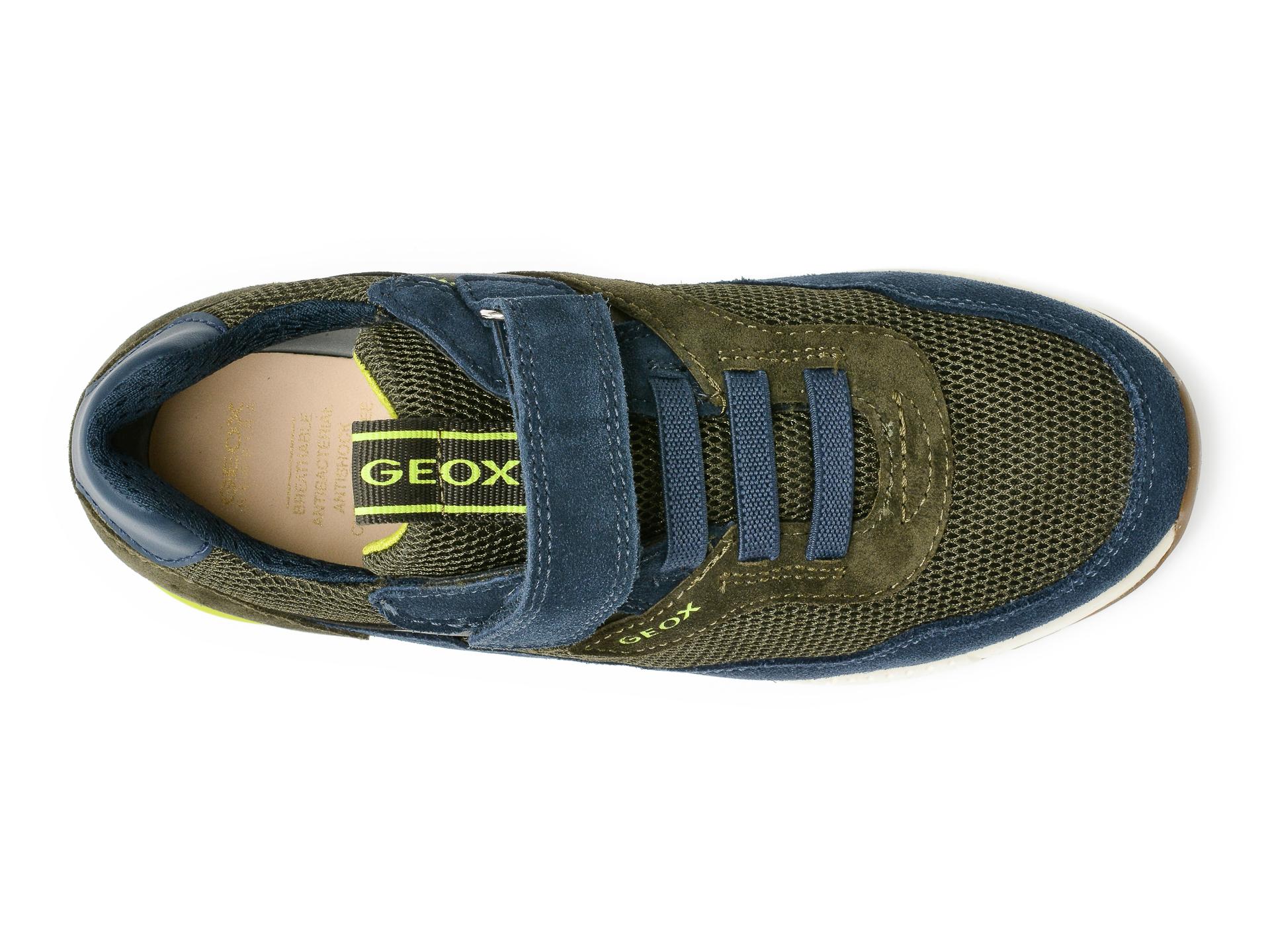 Pantofi sport GEOX bleumarin, J159EB, din material textil si piele intoarsa - 6