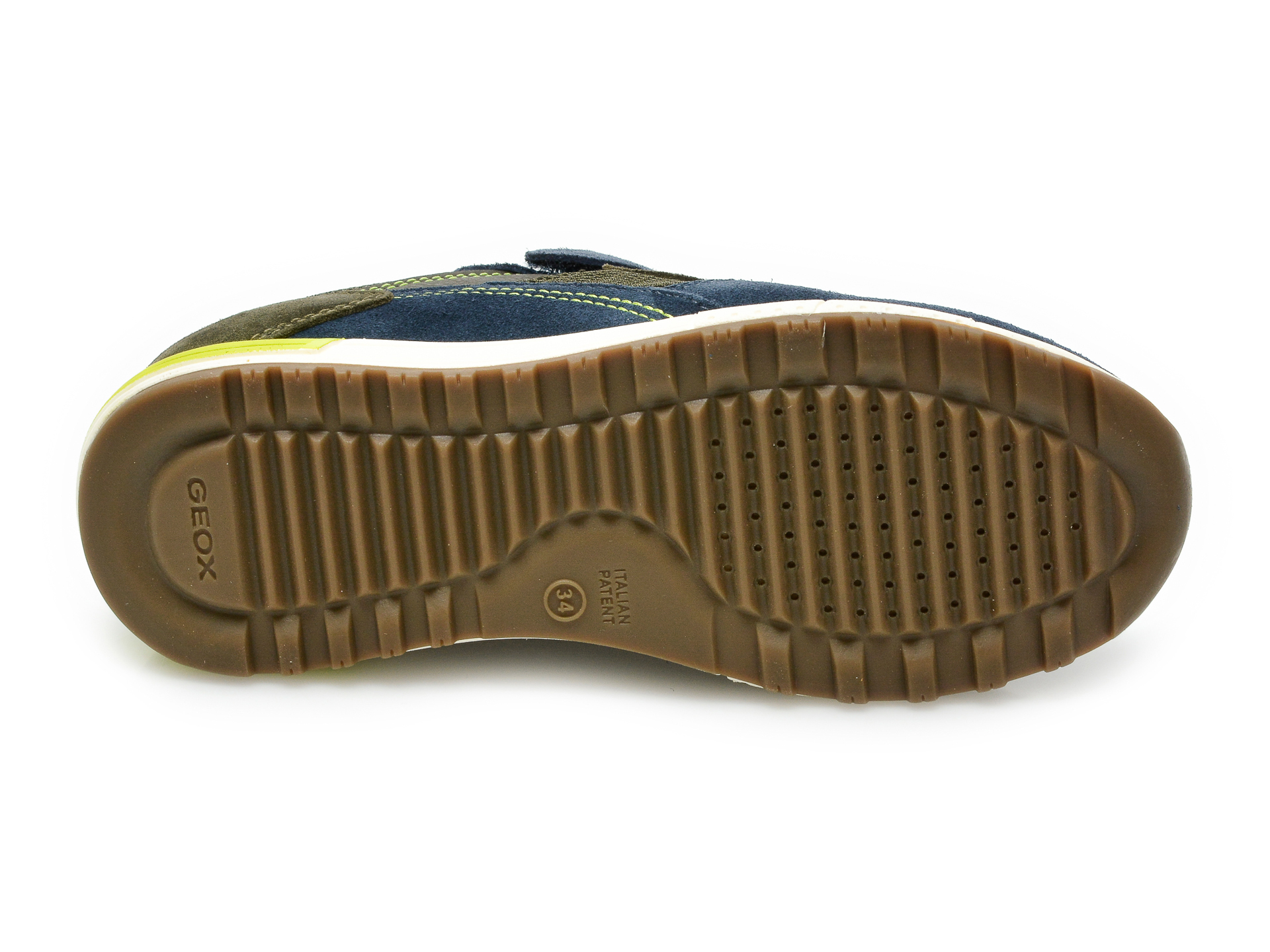 Pantofi sport GEOX bleumarin, J159EB, din material textil si piele intoarsa - 7