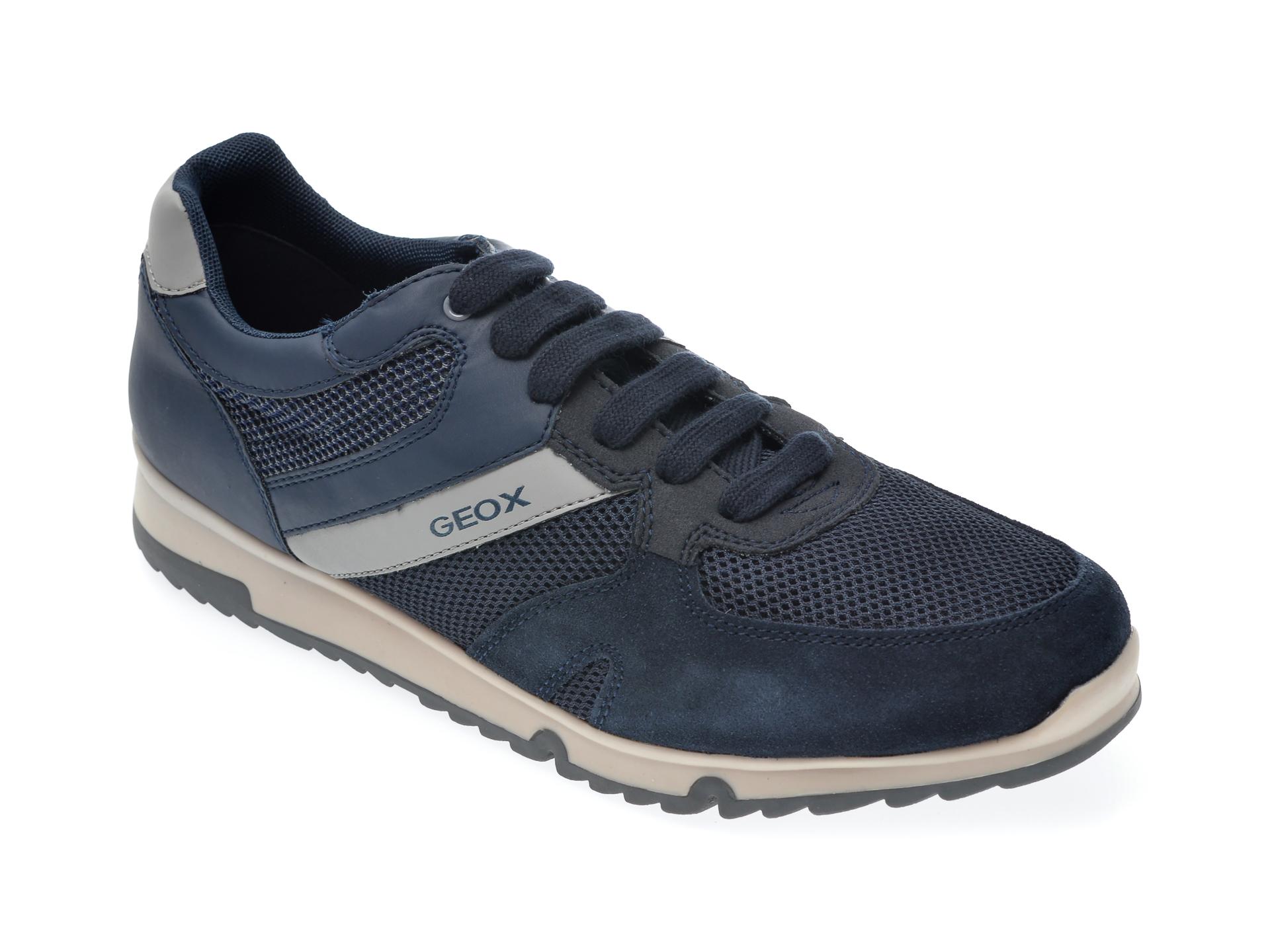 Pantofi sport GEOX bleumarin, U023XC, din piele ecologica imagine