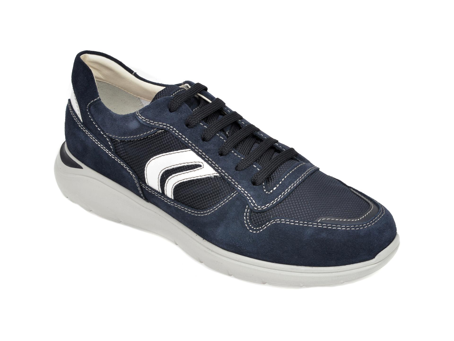 Pantofi sport GEOX bleumarin, U029DC, din material textil si piele intoarsa imagine