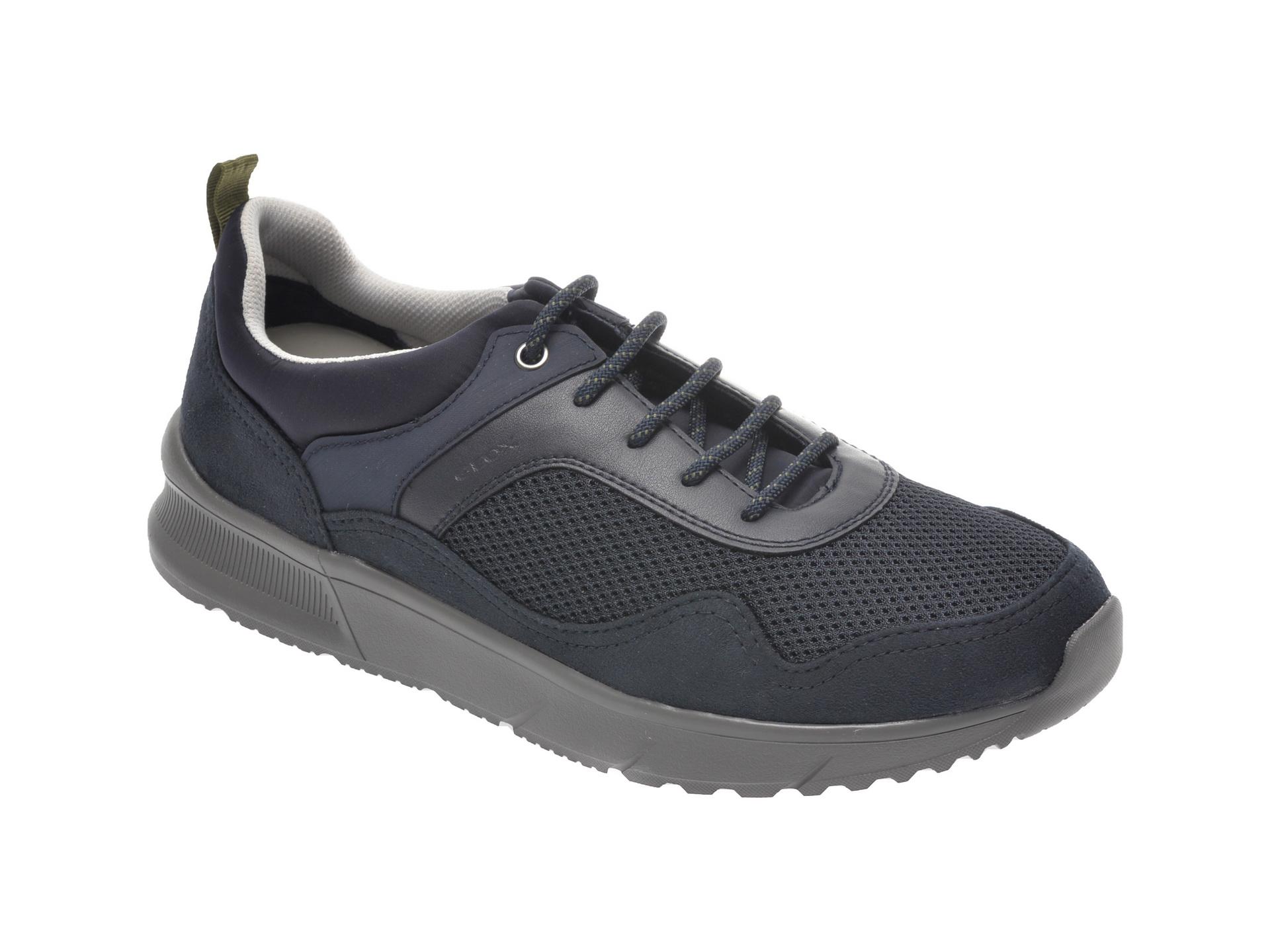 Pantofi sport GEOX bleumarin, U029UB, din material textil si piele ecologica imagine