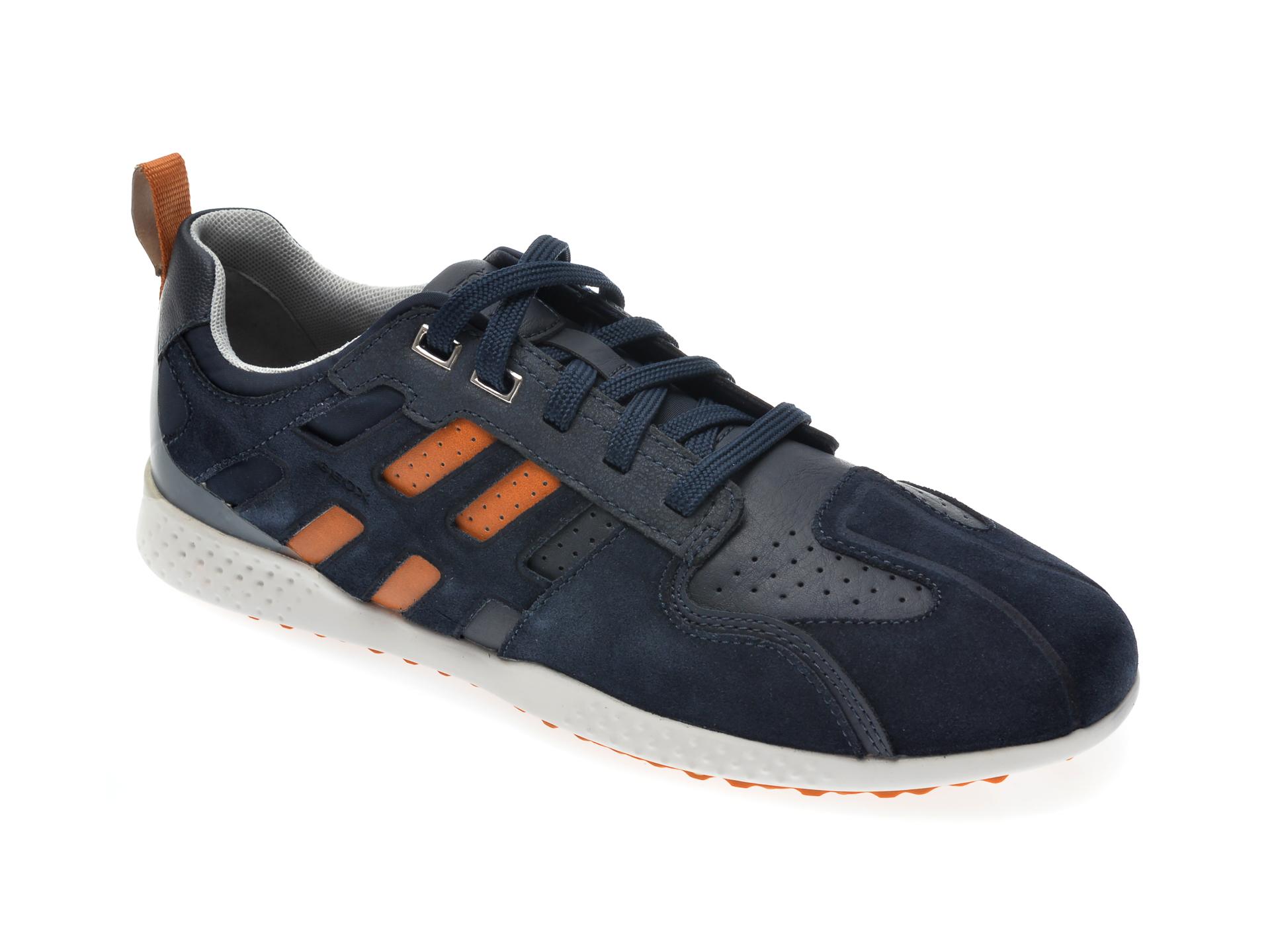 Pantofi sport GEOX bleumarin, U048DB, din piele ecologica