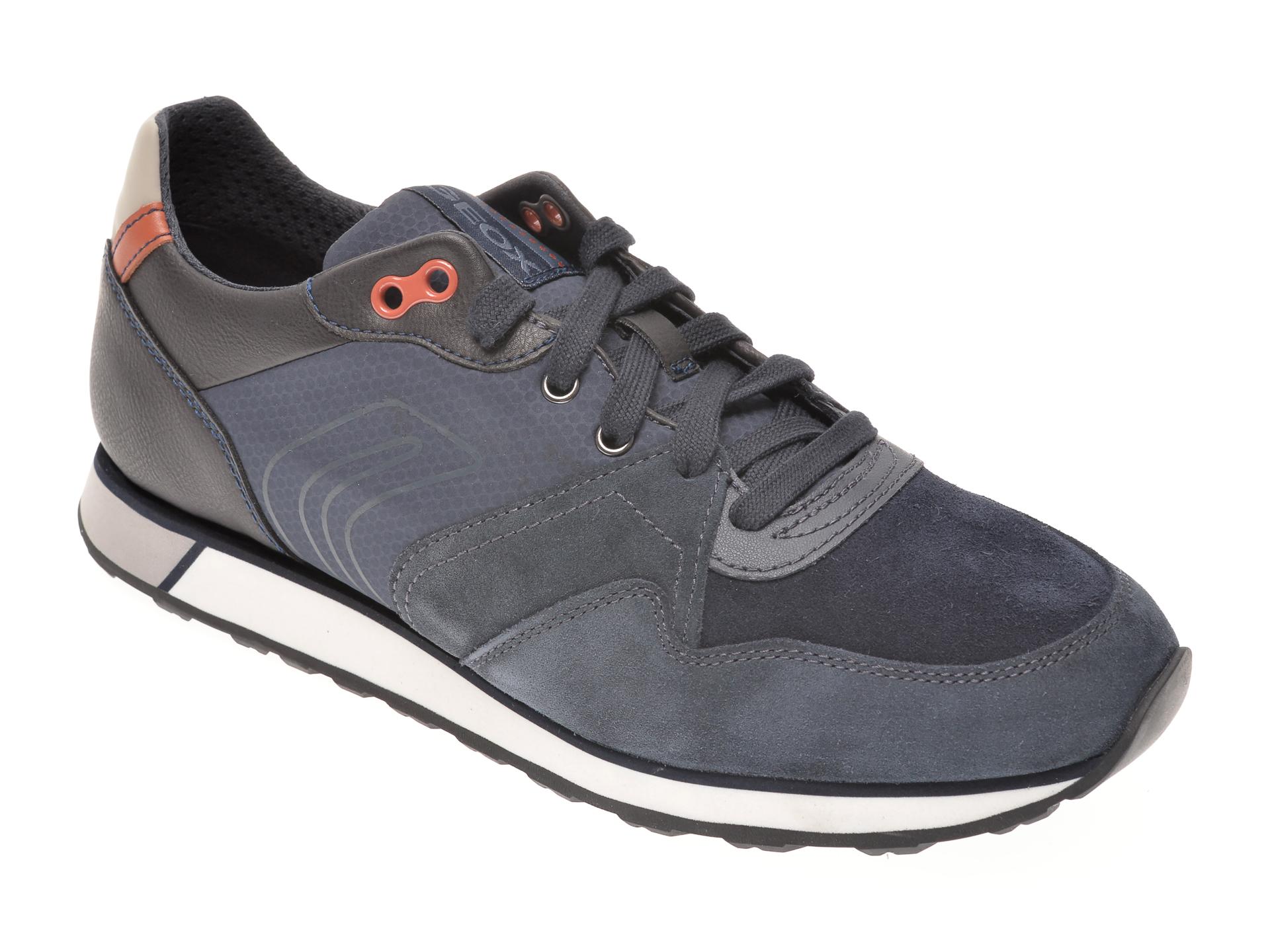 Pantofi sport GEOX bleumarin, U04AEC, din piele intoarsa imagine