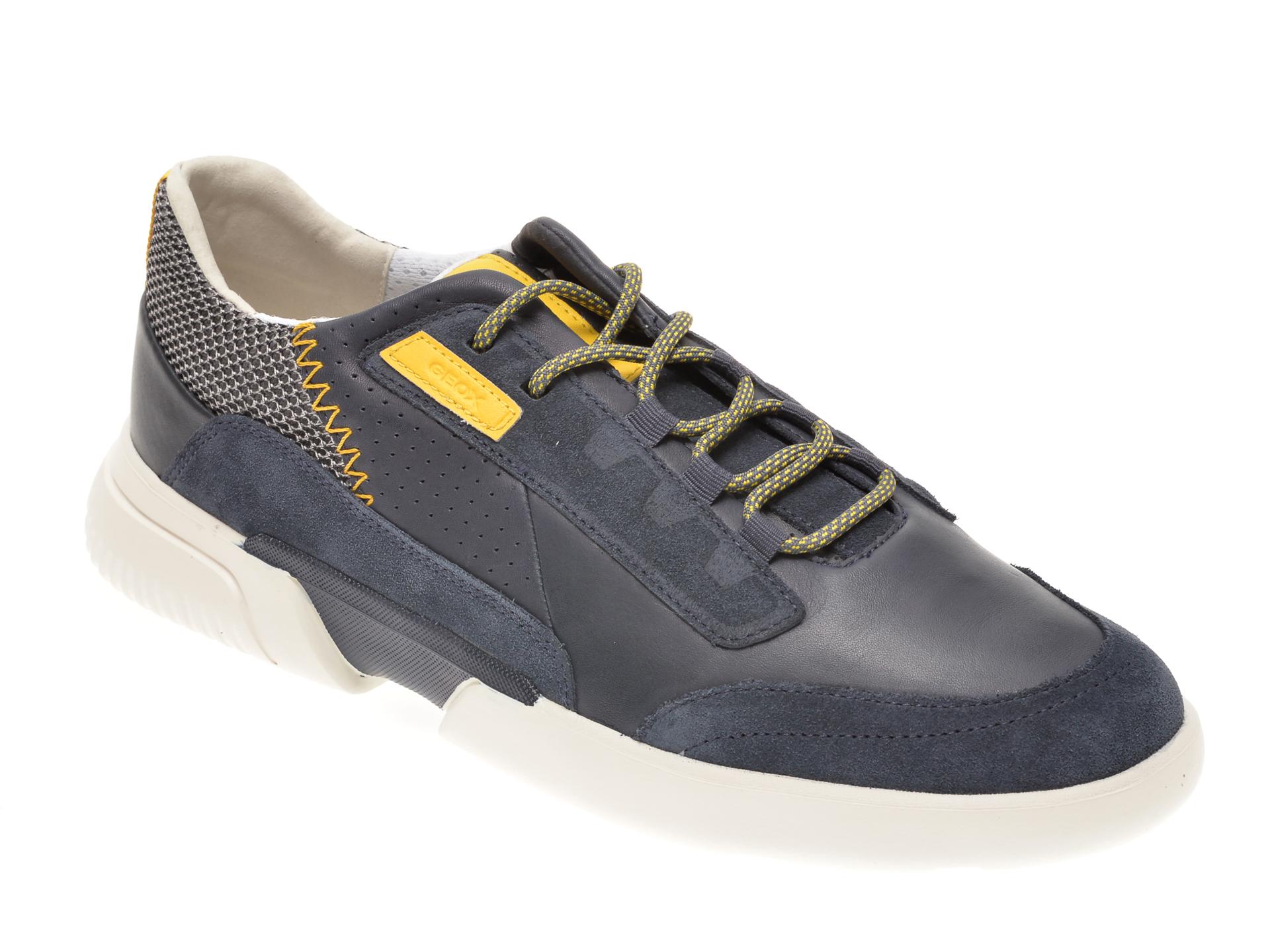 Pantofi sport GEOX bleumarin, U04AFA, din piele naturala