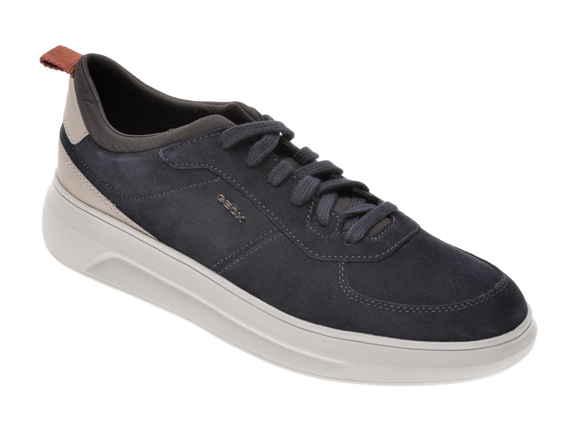 Pantofi sport GEOX bleumarin, U04ATE, din piele intoarsa imagine