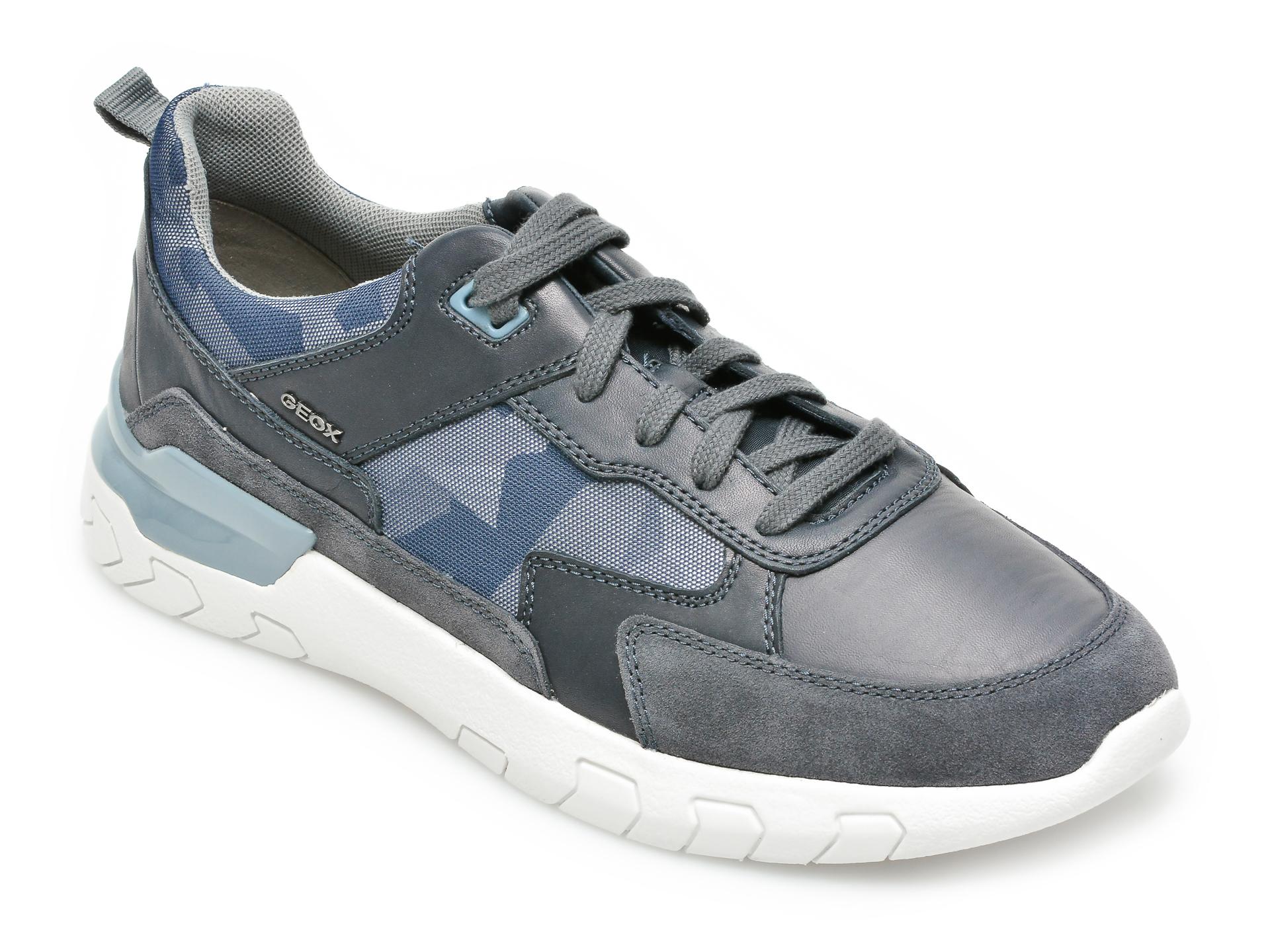 Pantofi sport GEOX bleumarin, U158ZC, din material textil si piele naturala imagine