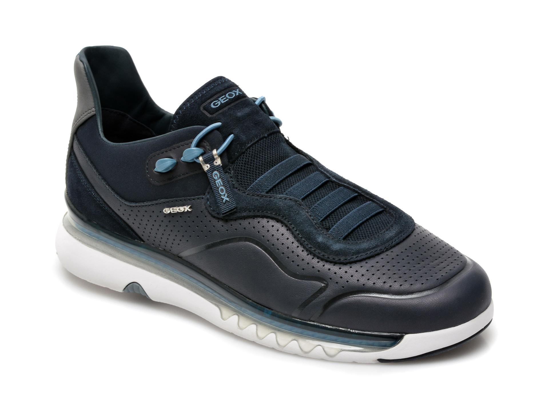 Pantofi sport GEOX bleumarin, U159XA, din piele naturala imagine