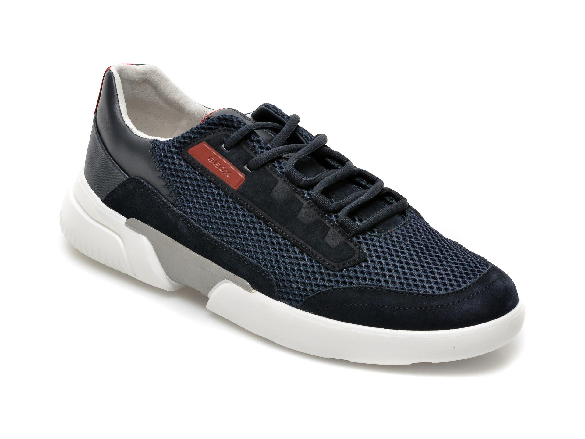 Pantofi sport GEOX bleumarin, U15AFA, din material textil si piele ecologica imagine