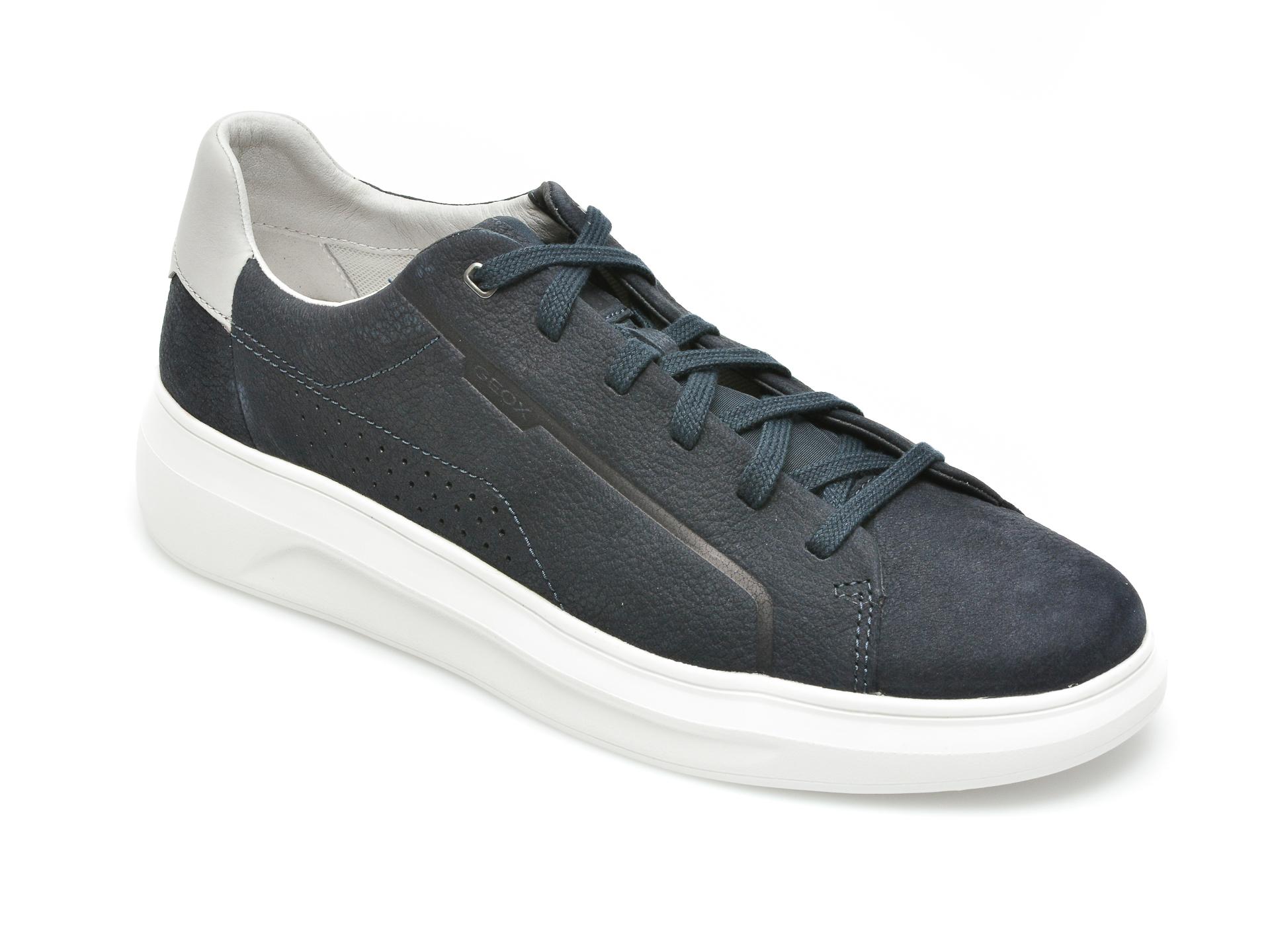 Pantofi sport GEOX bleumarin, U15ATB, din nabuc imagine
