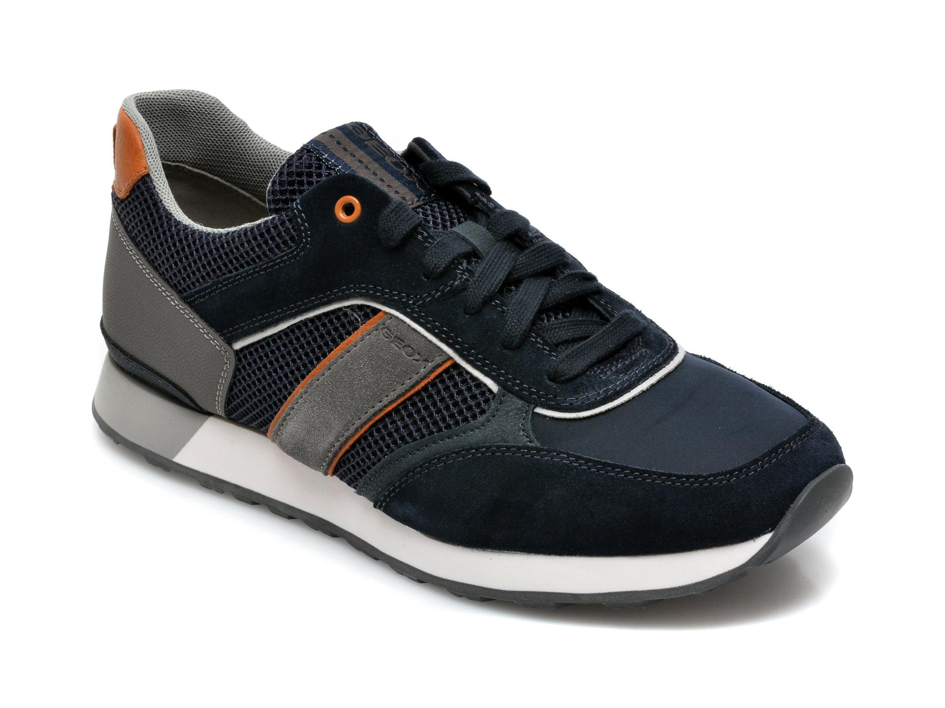 Pantofi sport GEOX bleumarin, U15BND, din material textil si piele ecologica imagine otter.ro 2021