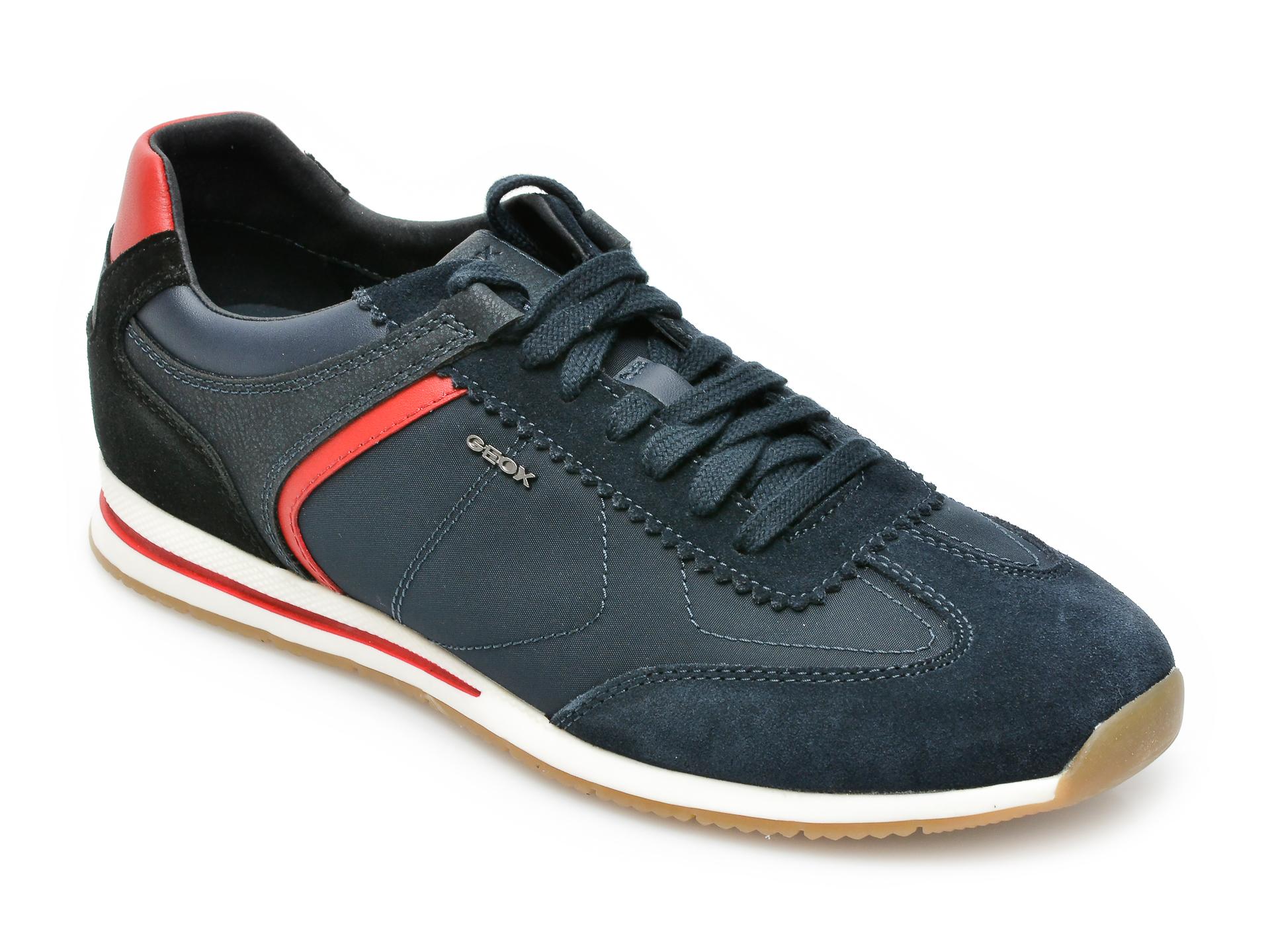 Pantofi sport GEOX bleumarin, U15BQA, din material textil si piele intoarsa imagine