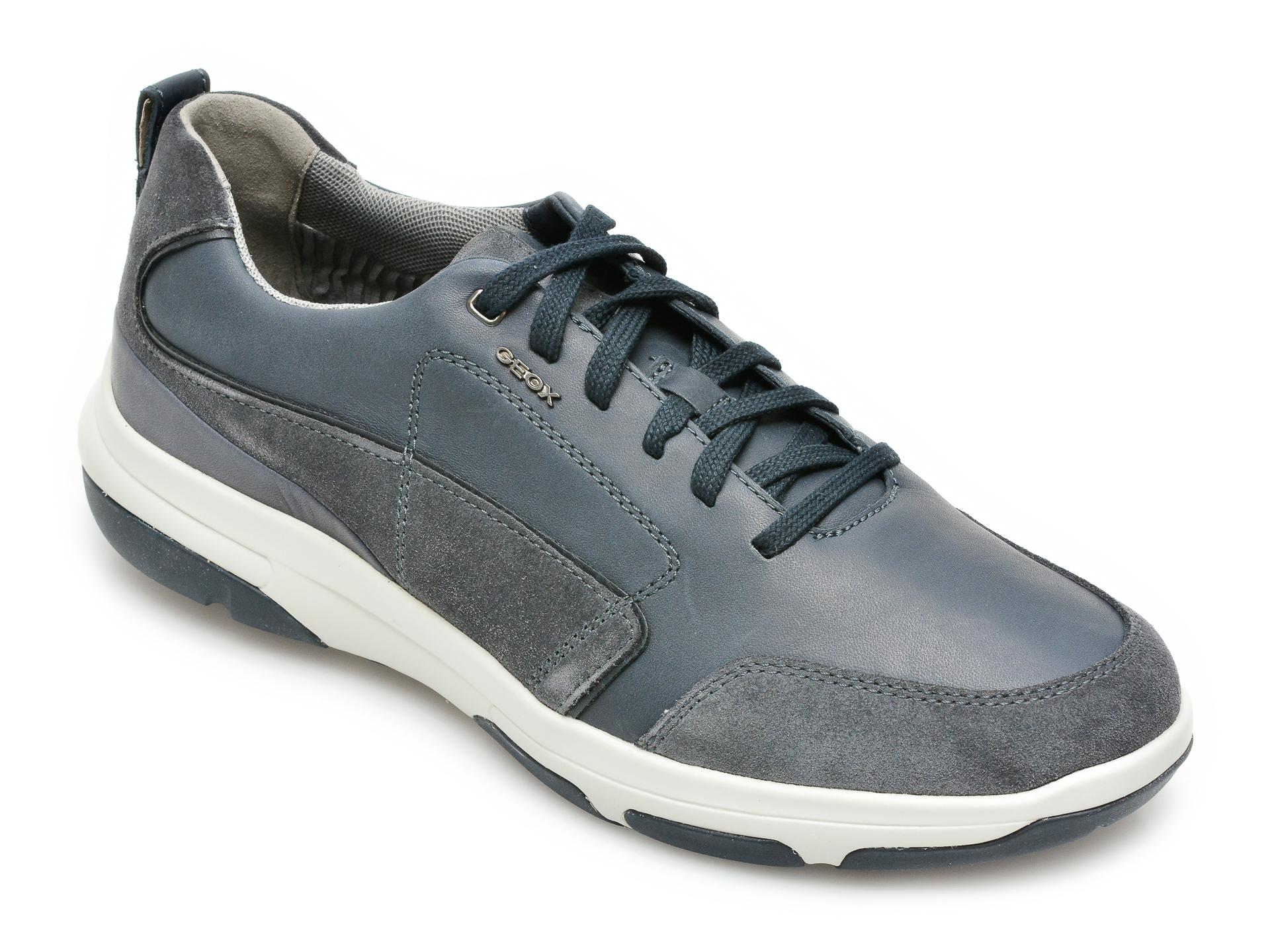 Pantofi sport GEOX bleumarin, U15C0A, din piele naturala imagine