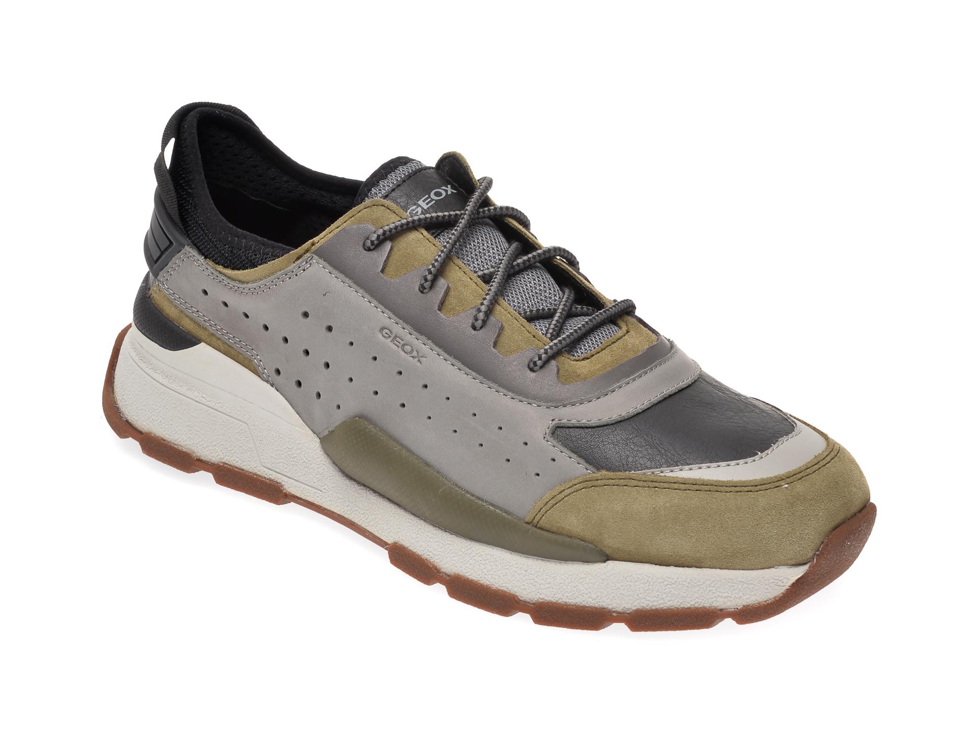 Pantofi sport GEOX gri, U029AA, din piele naturala imagine