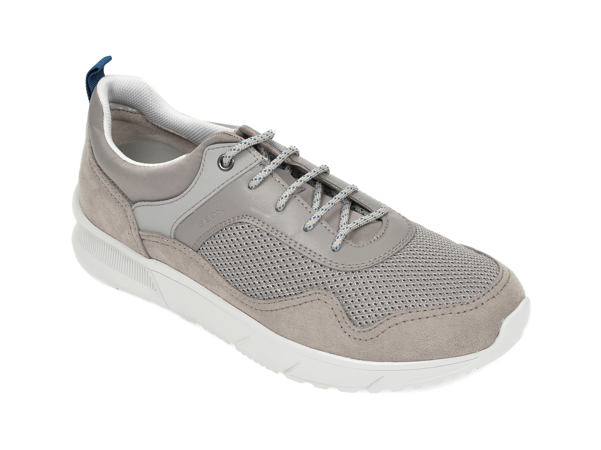 Pantofi sport GEOX gri, U029UB, din material textil si piele ecologica imagine