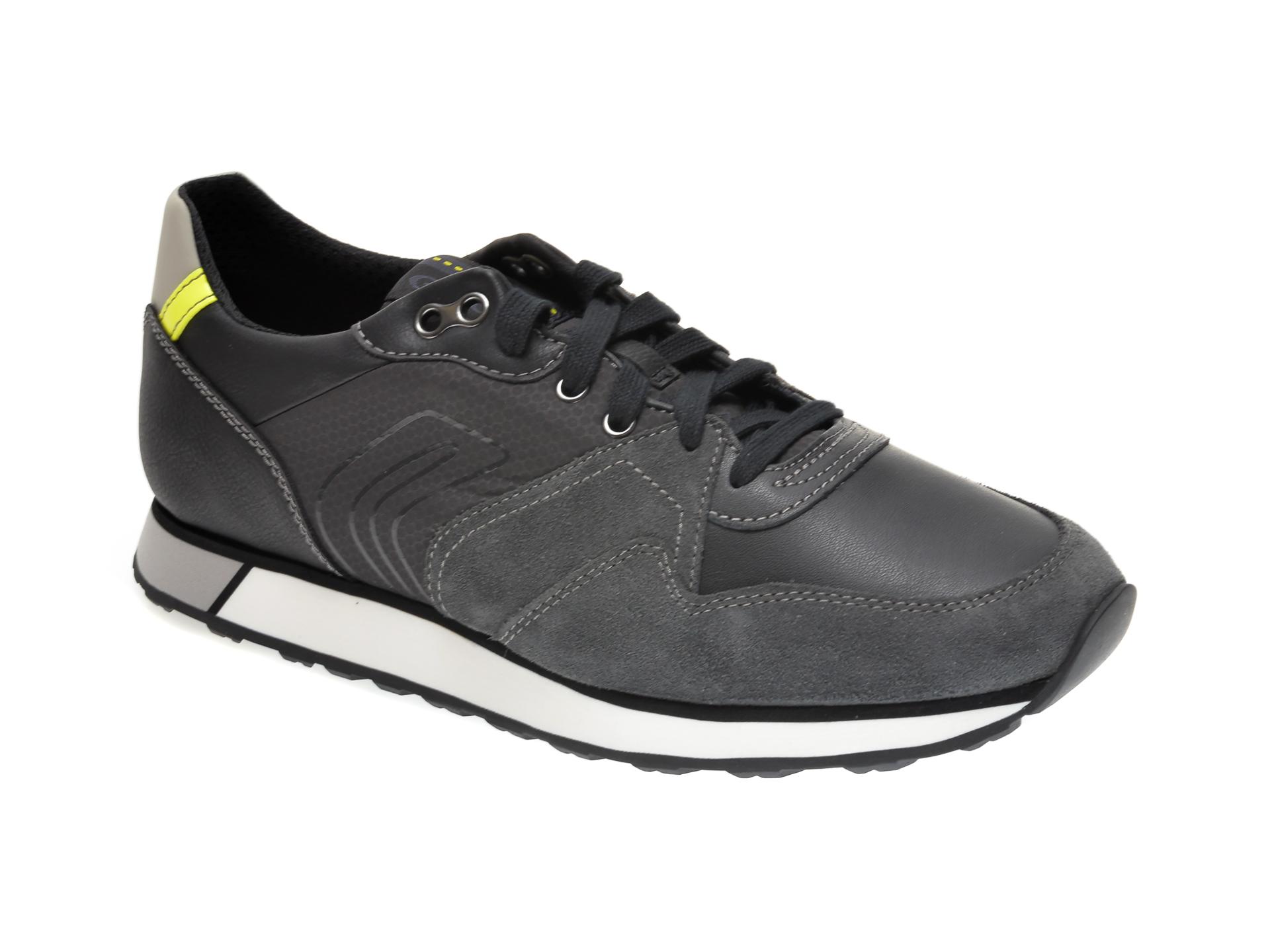 Pantofi sport GEOX gri, U04AEC, din piele intoarsa imagine otter.ro