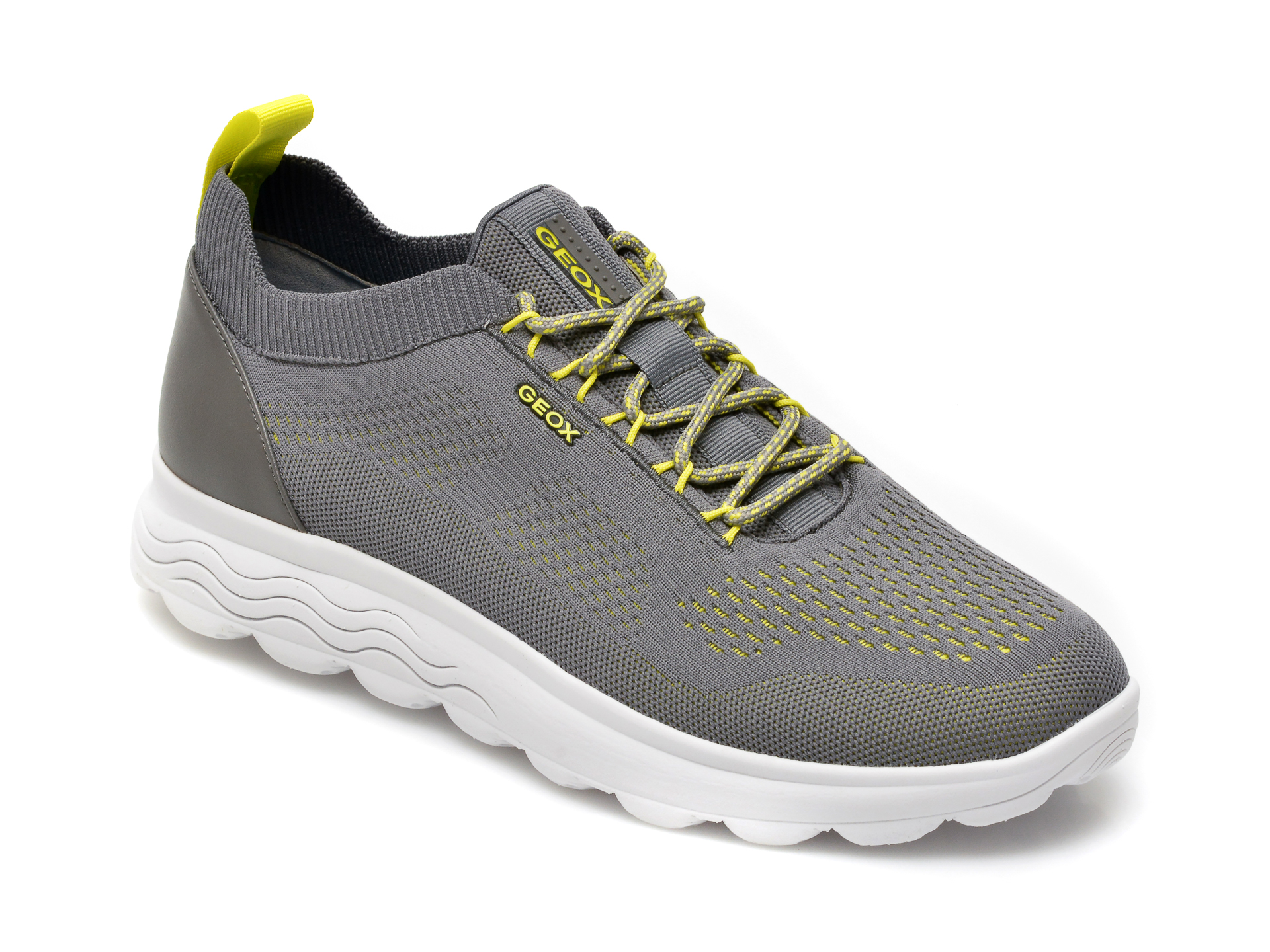 Pantofi sport GEOX gri, U15BYA, din material textil imagine