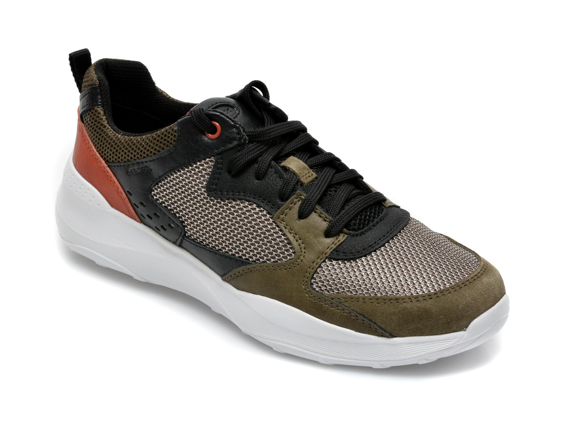 Pantofi sport GEOX kaki, U15AZA, din piele ecologica