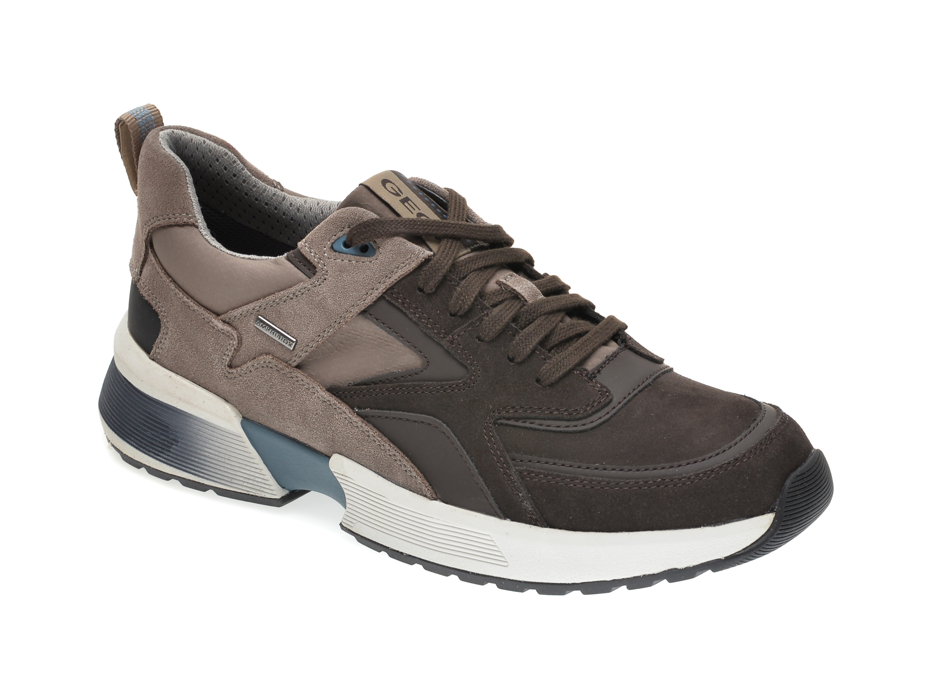 Pantofi sport GEOX maro, U04AUA, din piele intoarsa imagine