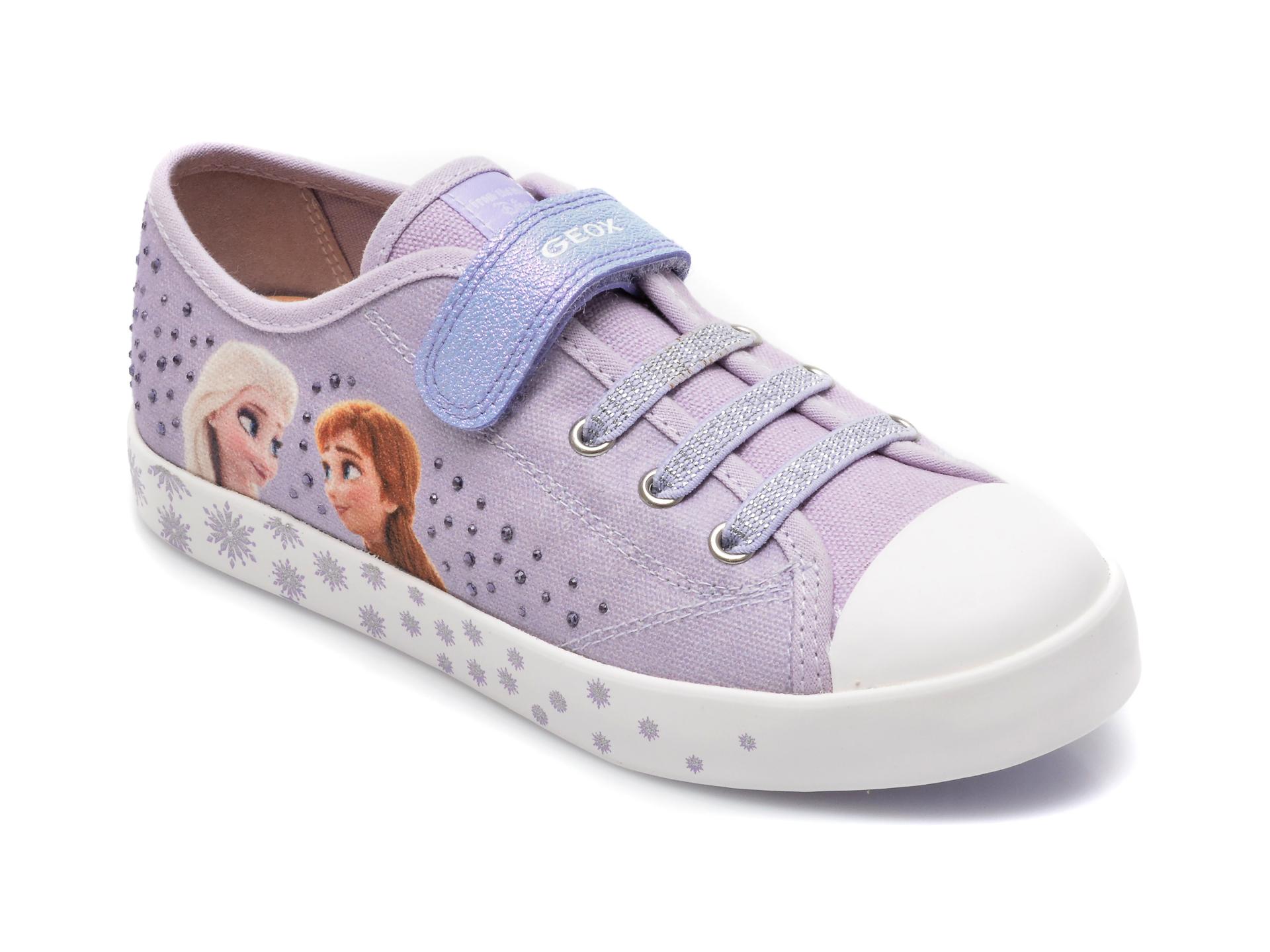 Pantofi sport GEOX mov, J1504A, din material textil