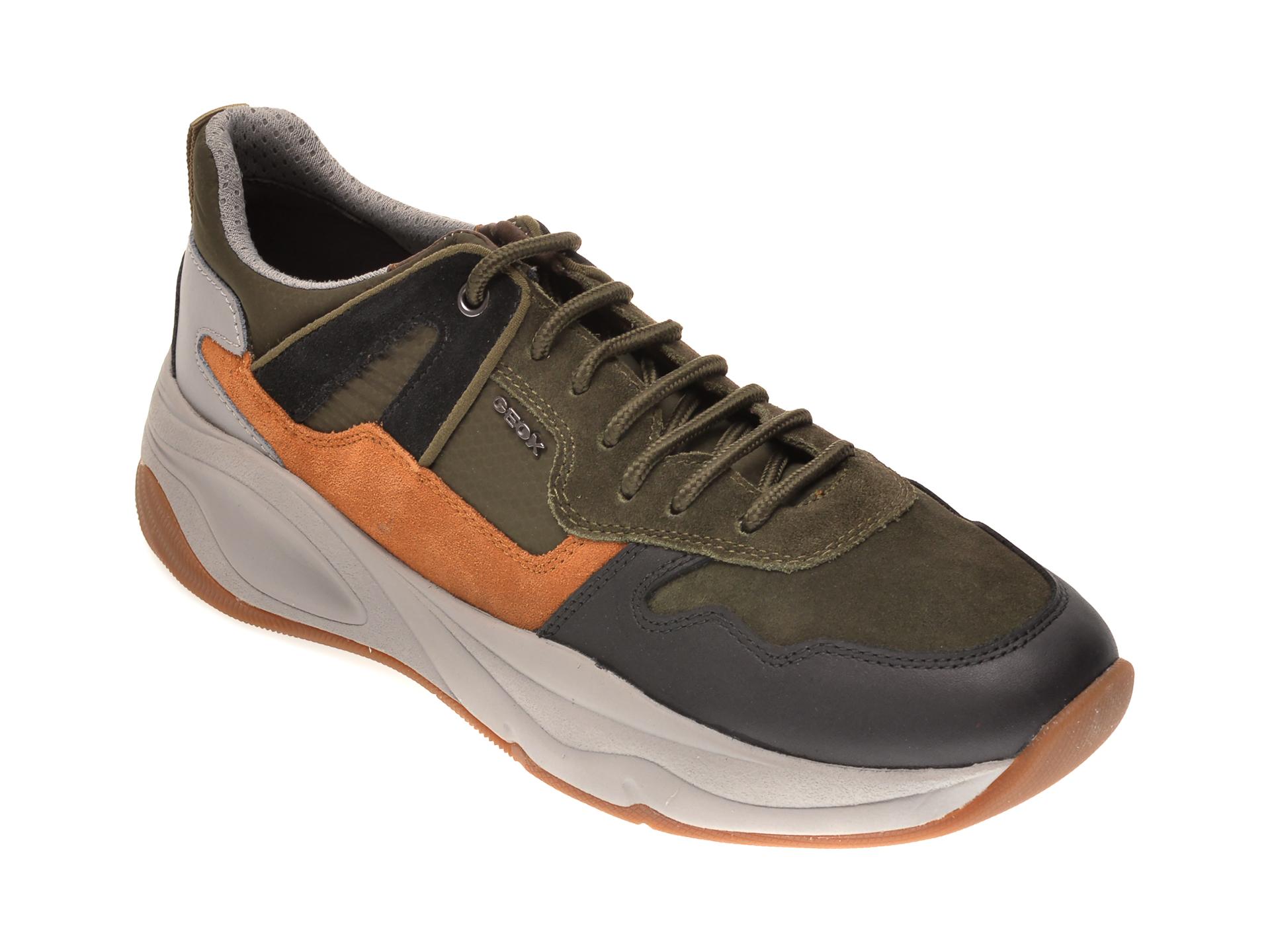 Pantofi sport GEOX multicolor, U04ASA, din piele intoarsa imagine