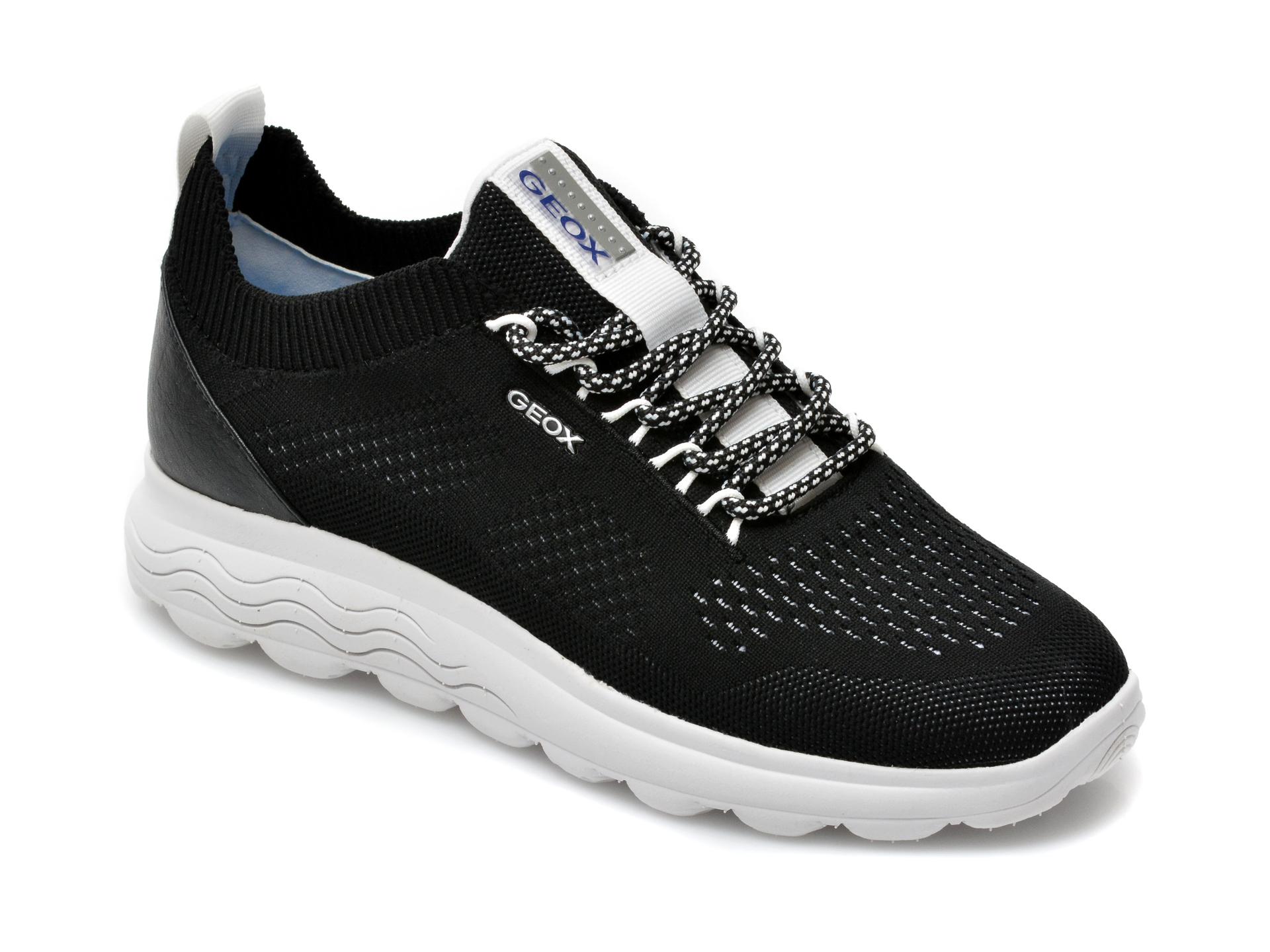 Pantofi sport GEOX negri, D15NUA, din material textil imagine otter.ro 2021