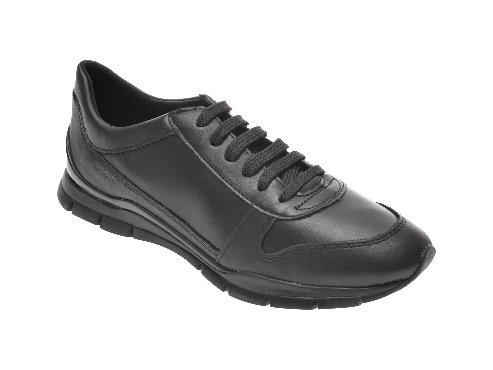 Pantofi sport GEOX negri, D94F2C, din piele ecologica