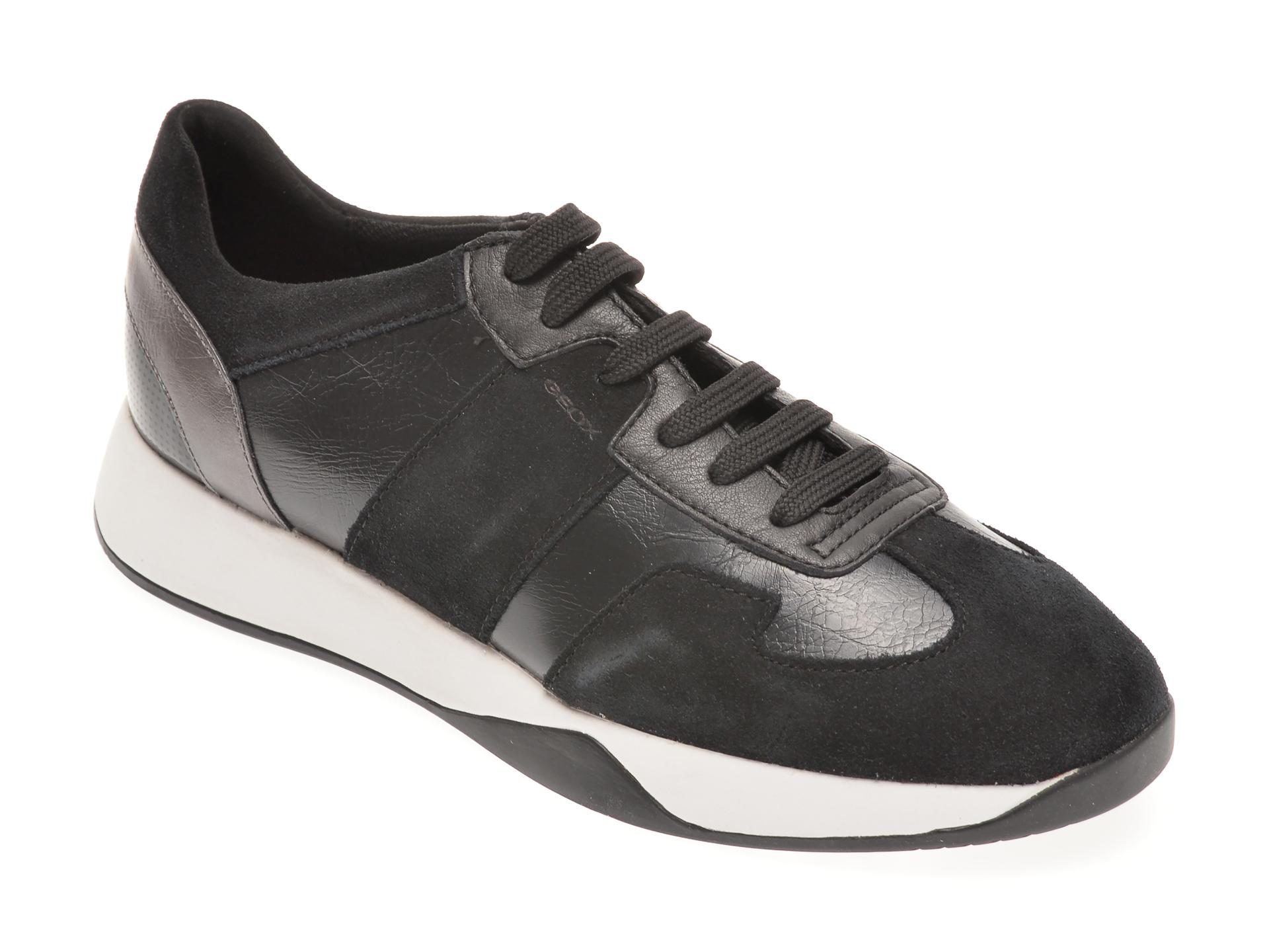 Pantofi Sport Geox Negri, D94frb, Din Piele Naturala