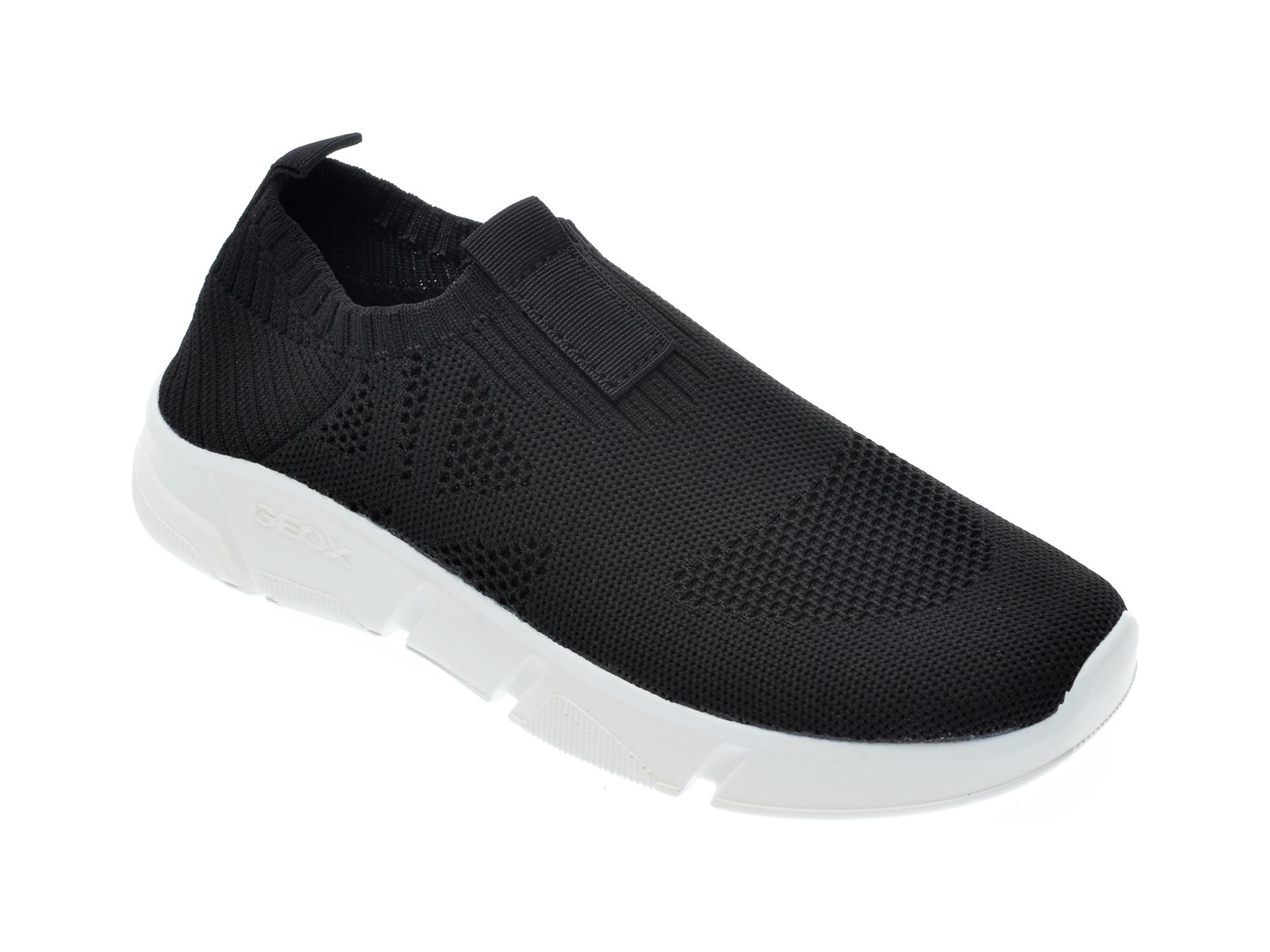 Pantofi sport GEOX negri, J02DMA, din material textil