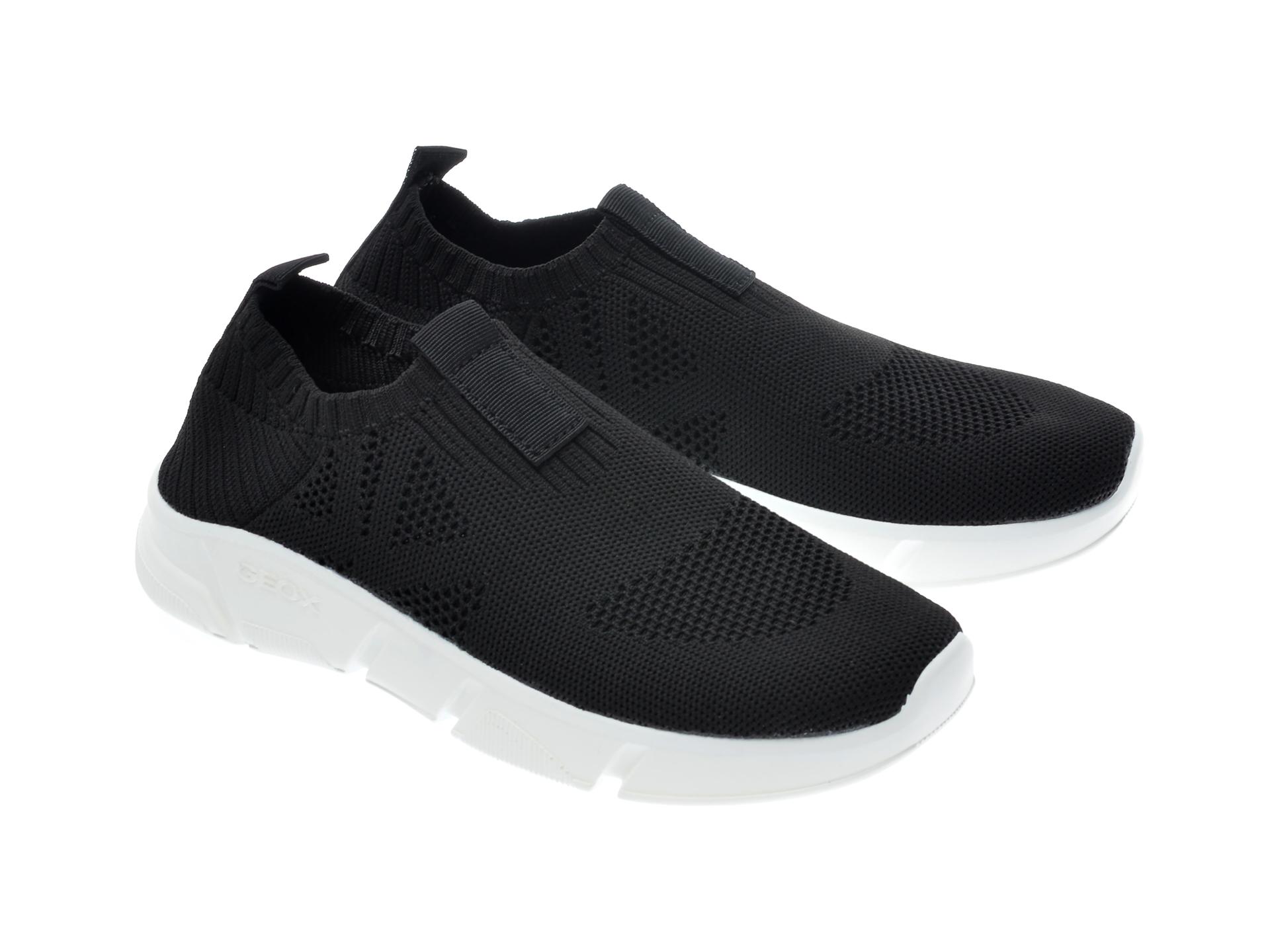 Pantofi sport GEOX negri, J02DMA, din material textil - 4