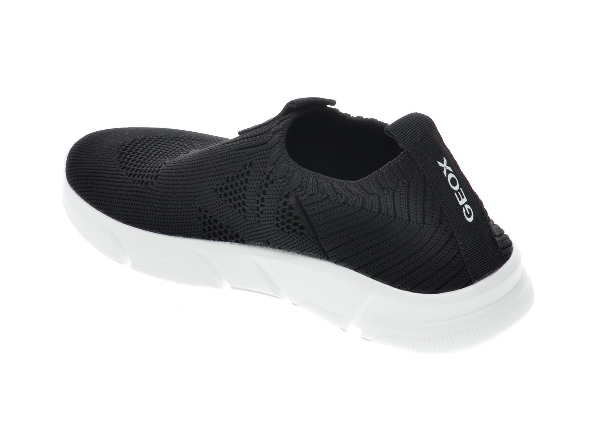 Pantofi sport GEOX negri, J02DMA, din material textil - 5